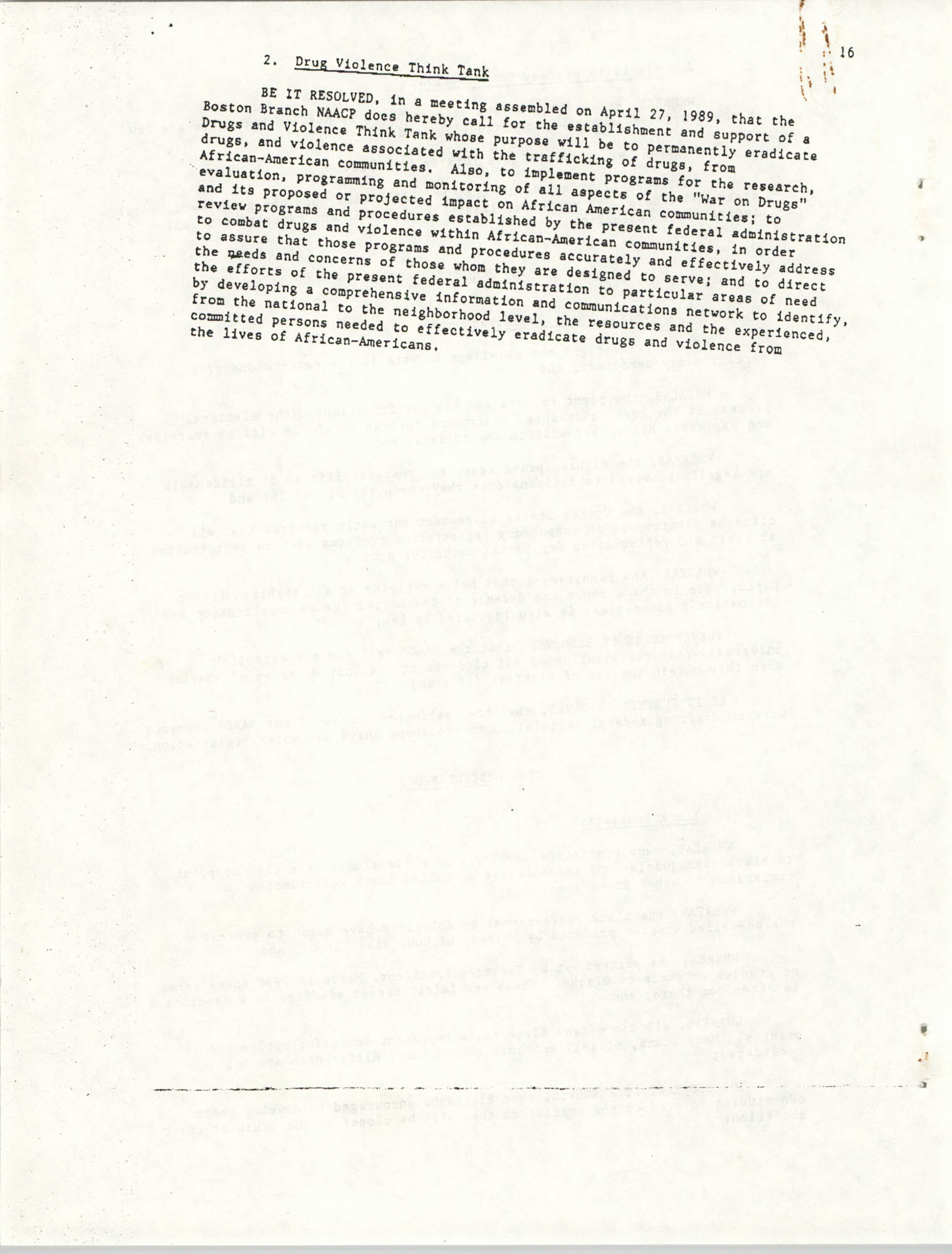 Resolutions Submitted Under Article X, Section 2 of the Constitution of the NAACP, Page 16