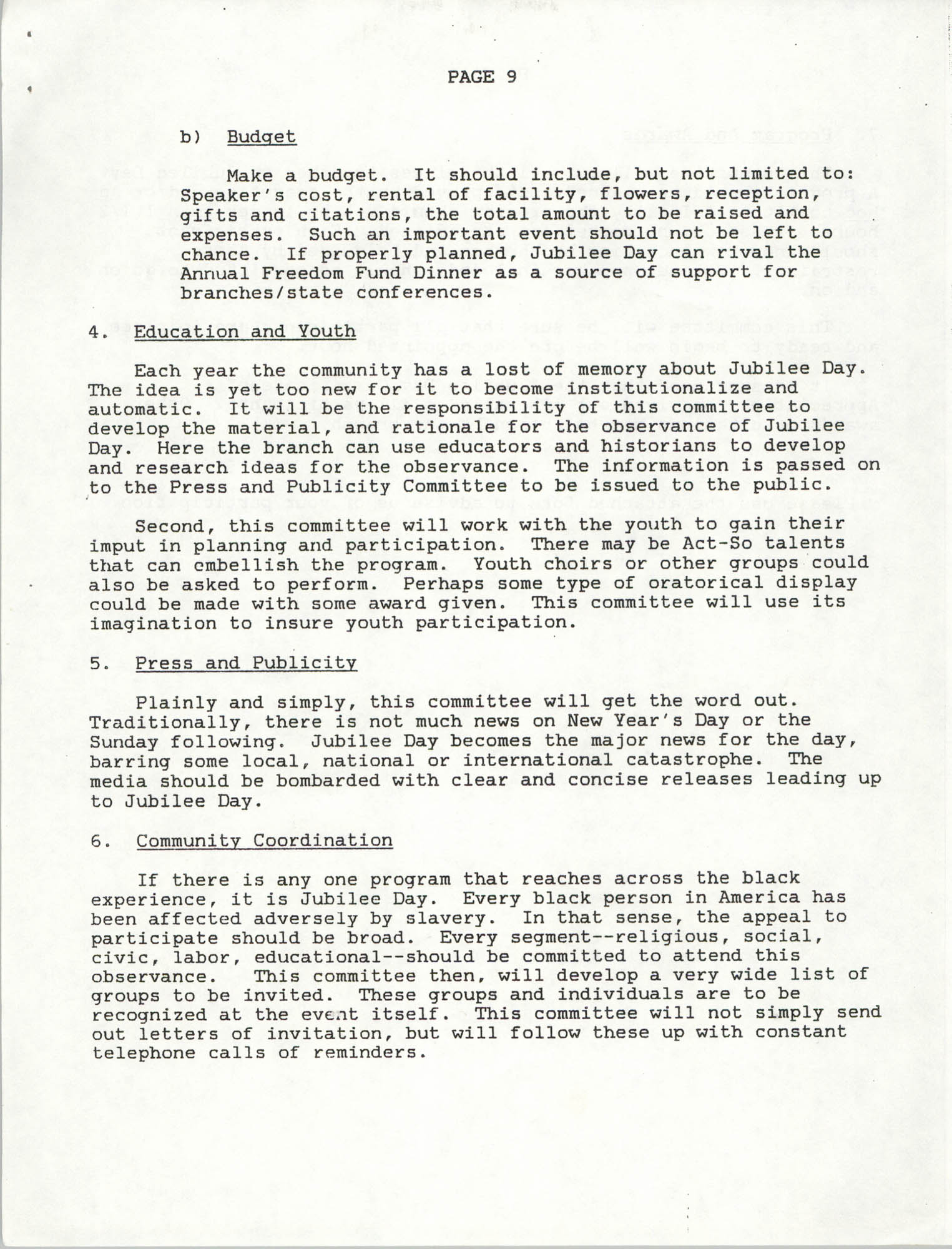 NAACP Memorandum, November 10, 1990, Page 9