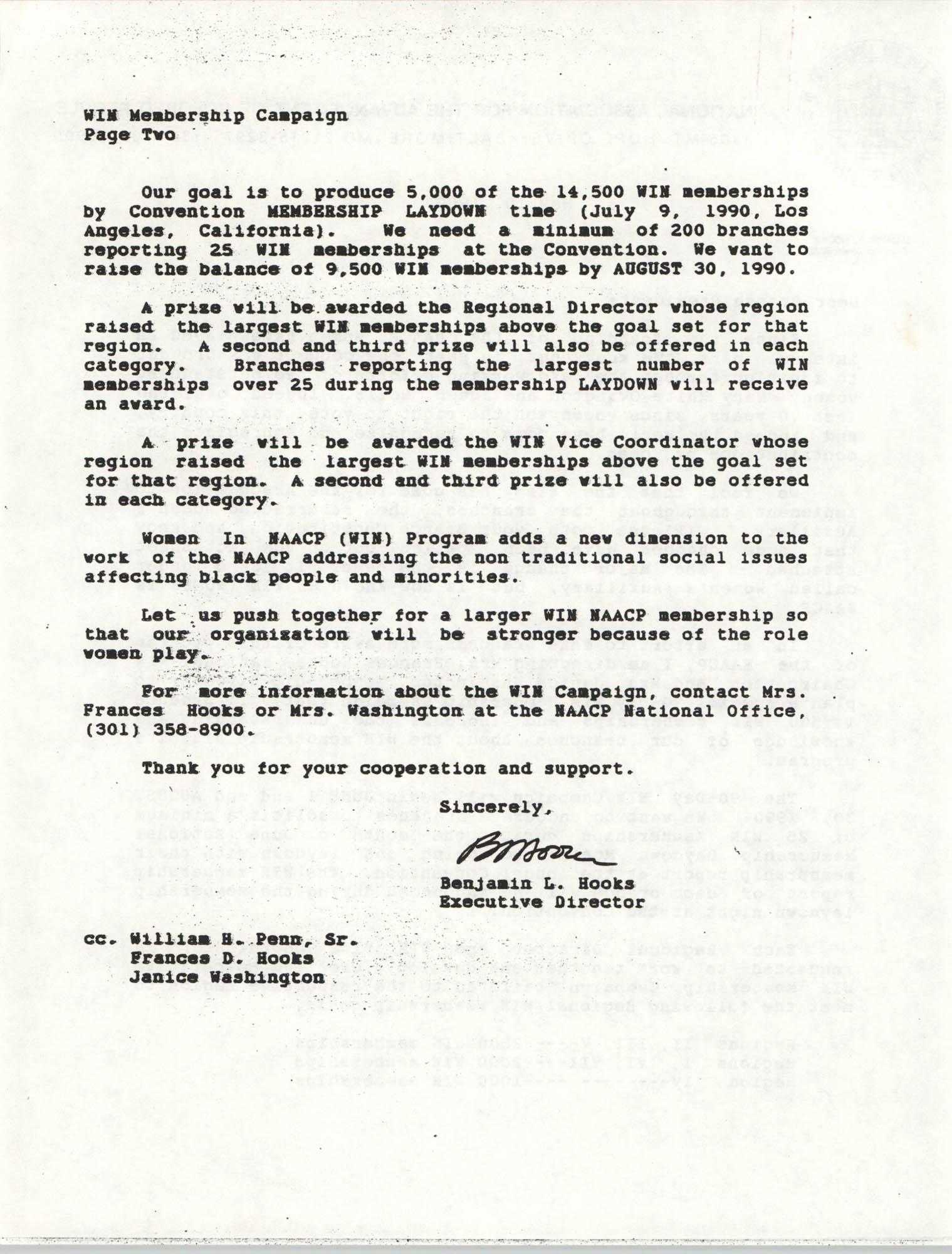NAACP Memorandum, May 10, 1990, Page 2