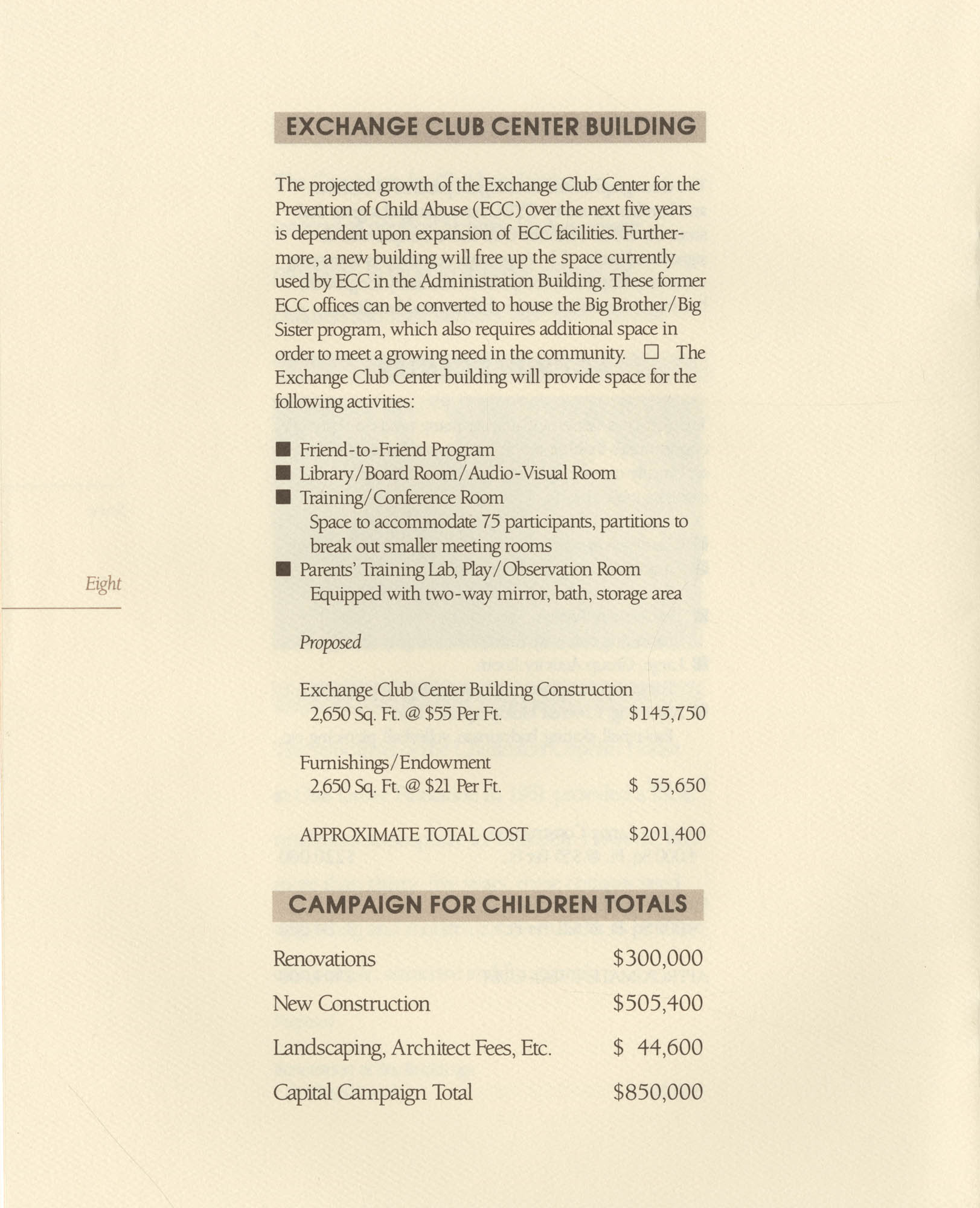 Campaign for Children: Brightening the Outlook for Generations to Come, Page 8