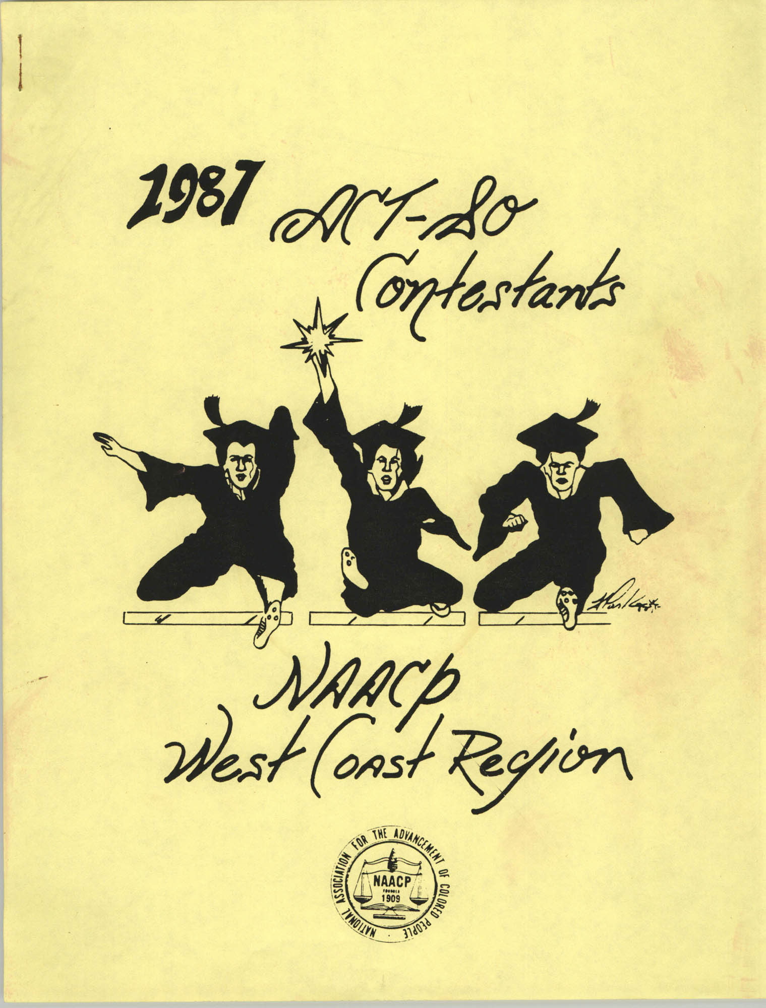 1987 Act-So Contestants, NAACP West Coast Region, Cover