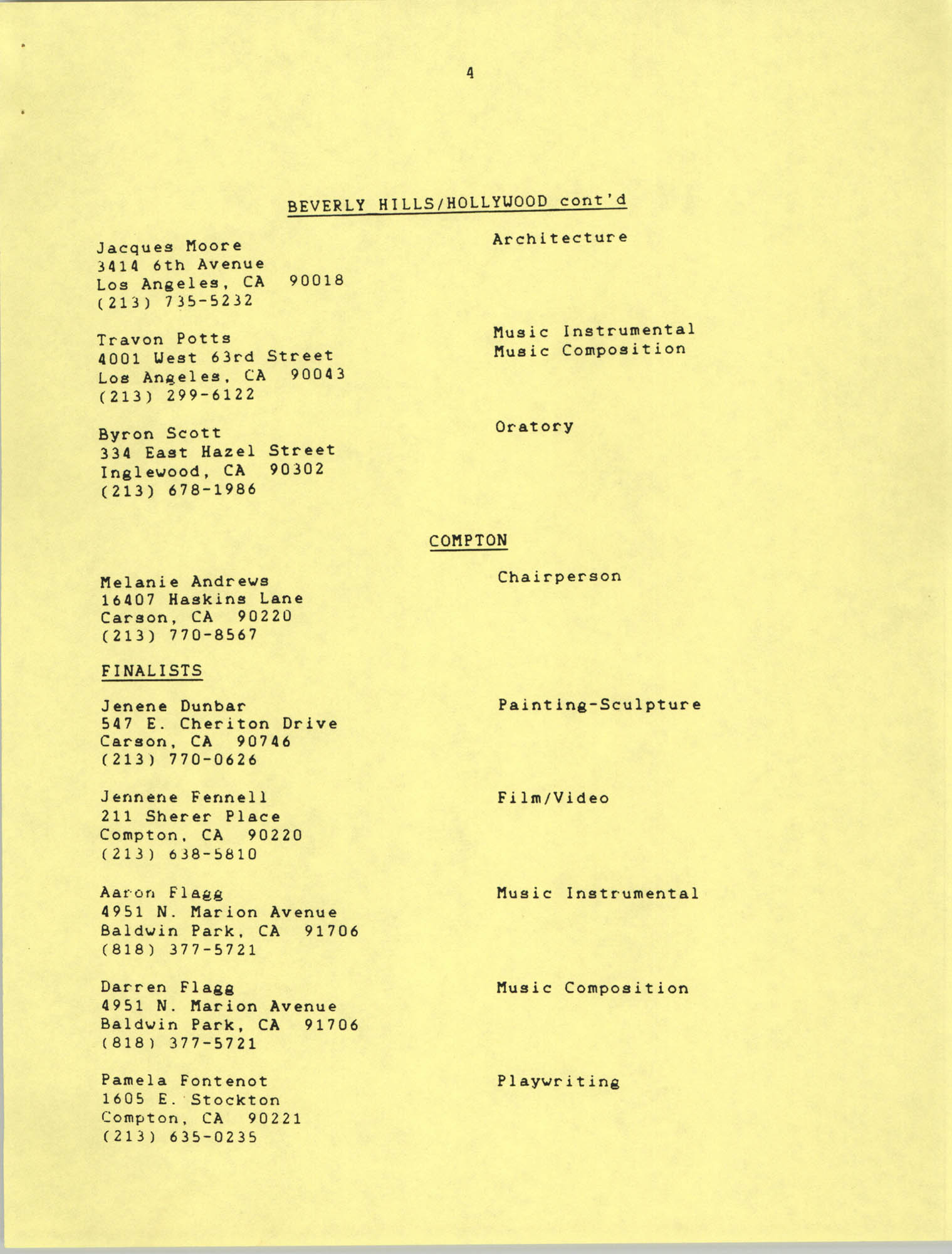 1987 Act-So Contestants, NAACP West Coast Region, Page 4