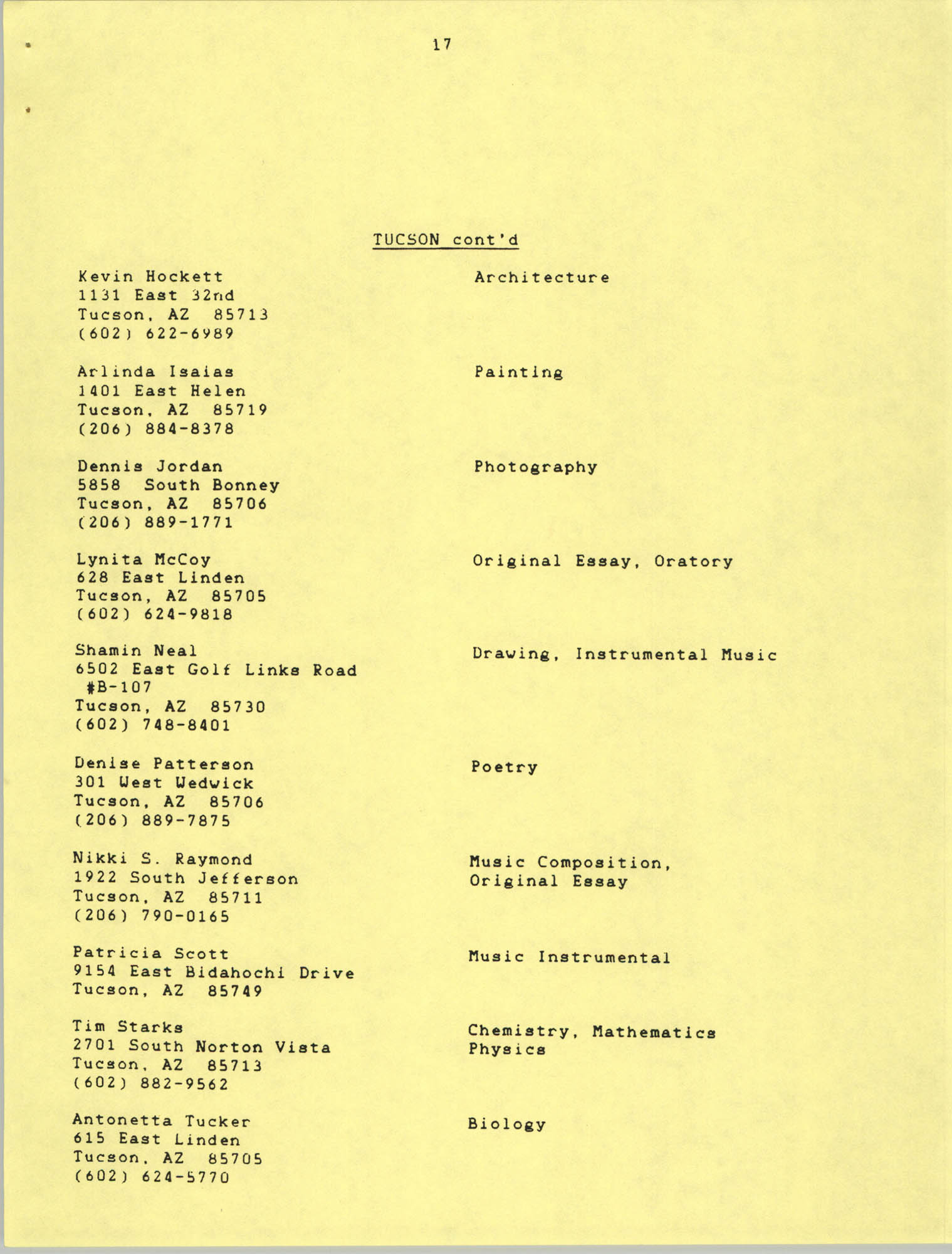 1987 Act-So Contestants, NAACP West Coast Region, Page 17