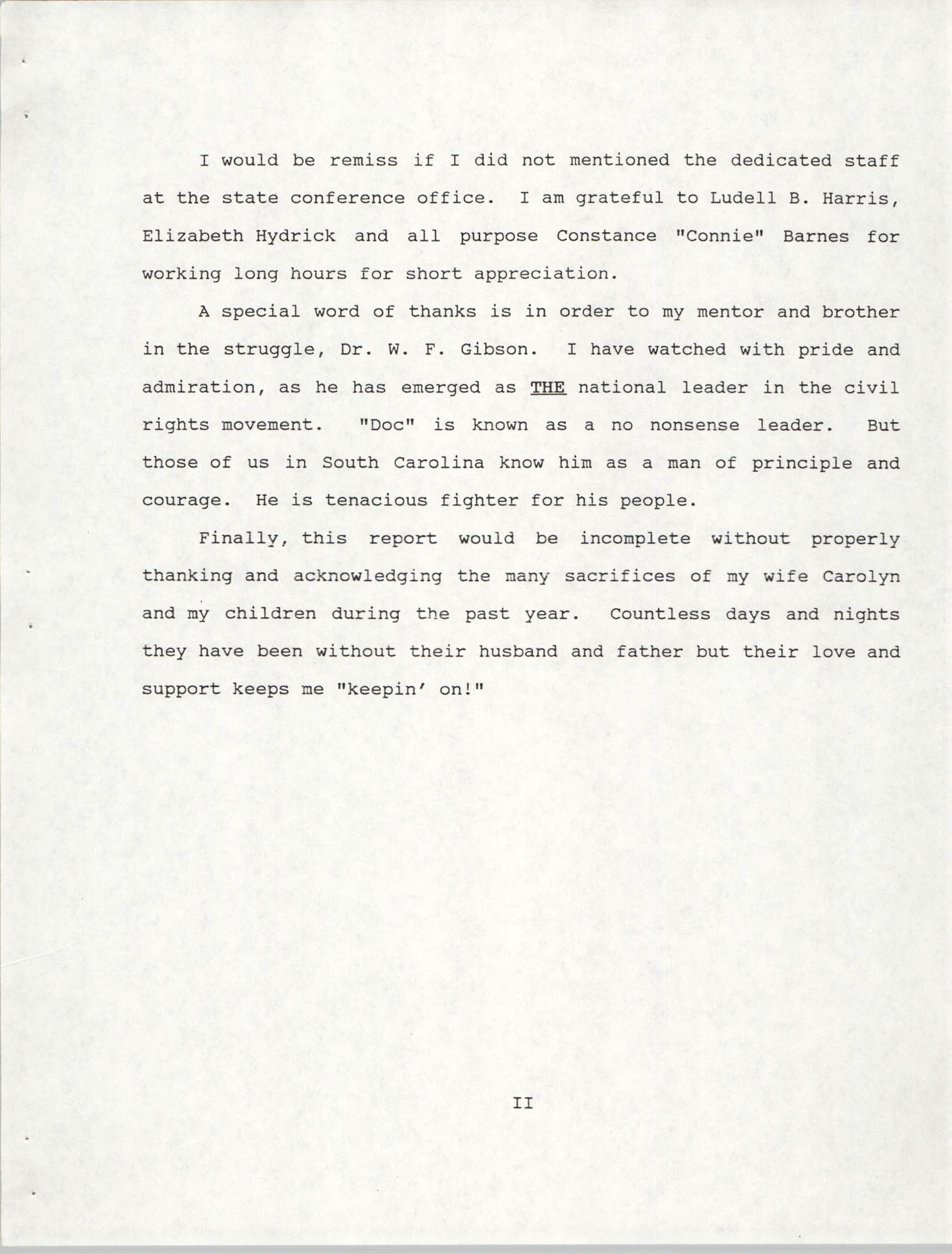 South Carolina Conference of Branches of the NAACP, 1990 Annual Report, Part One, Introduction Page 2