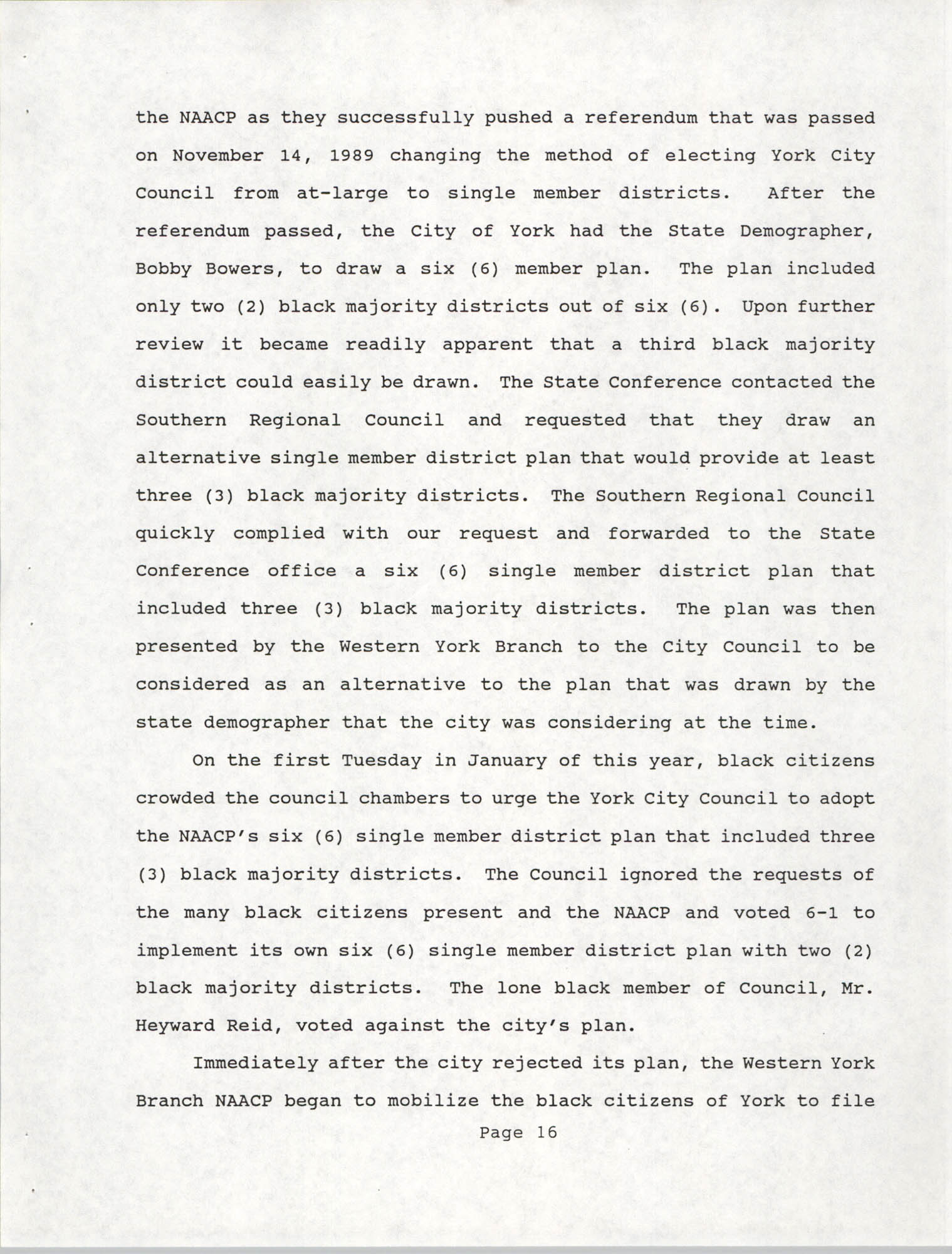 South Carolina Conference of Branches of the NAACP, 1990 Annual Report, Part One, Page 16