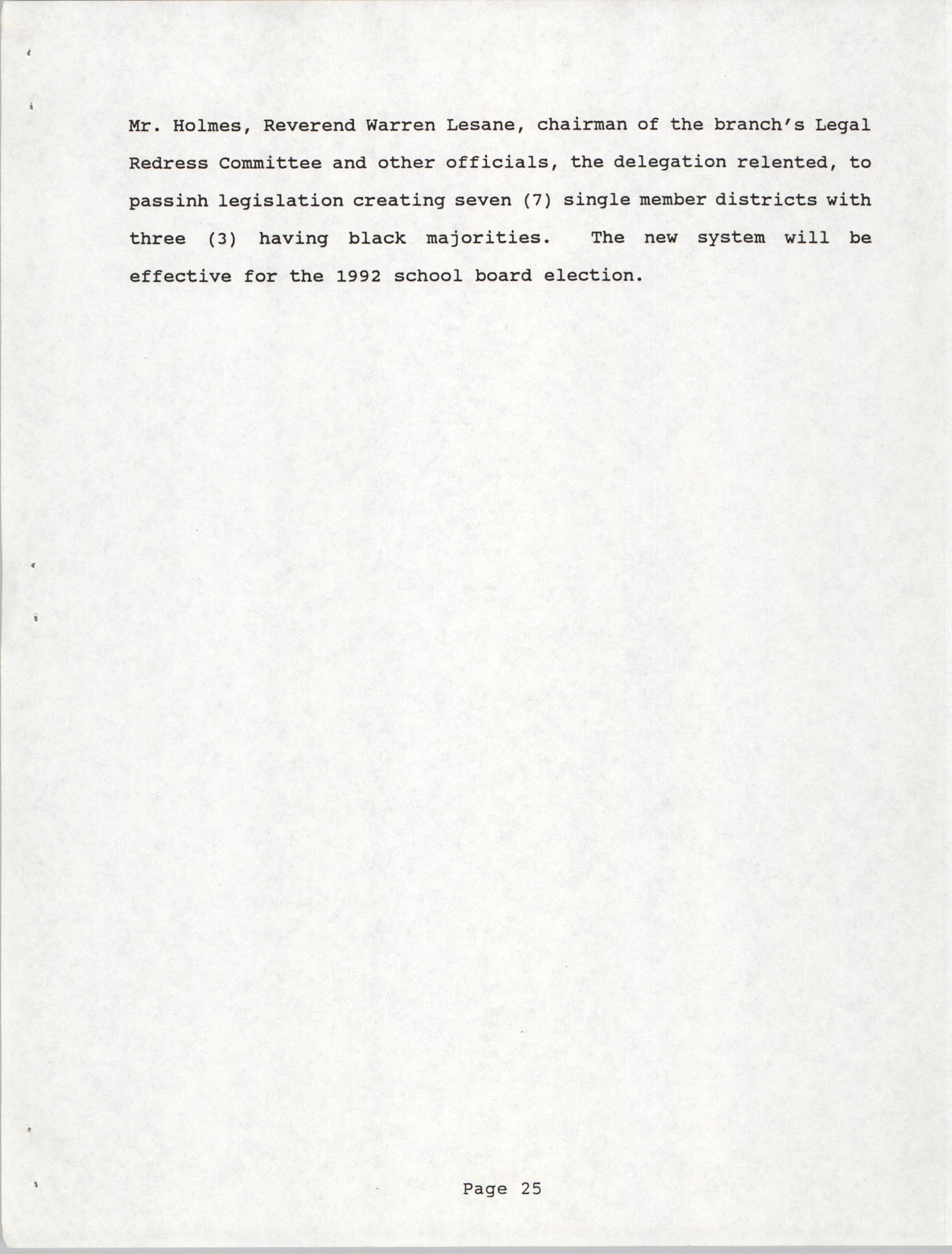 South Carolina Conference of Branches of the NAACP, 1990 Annual Report, Part One, Page 25