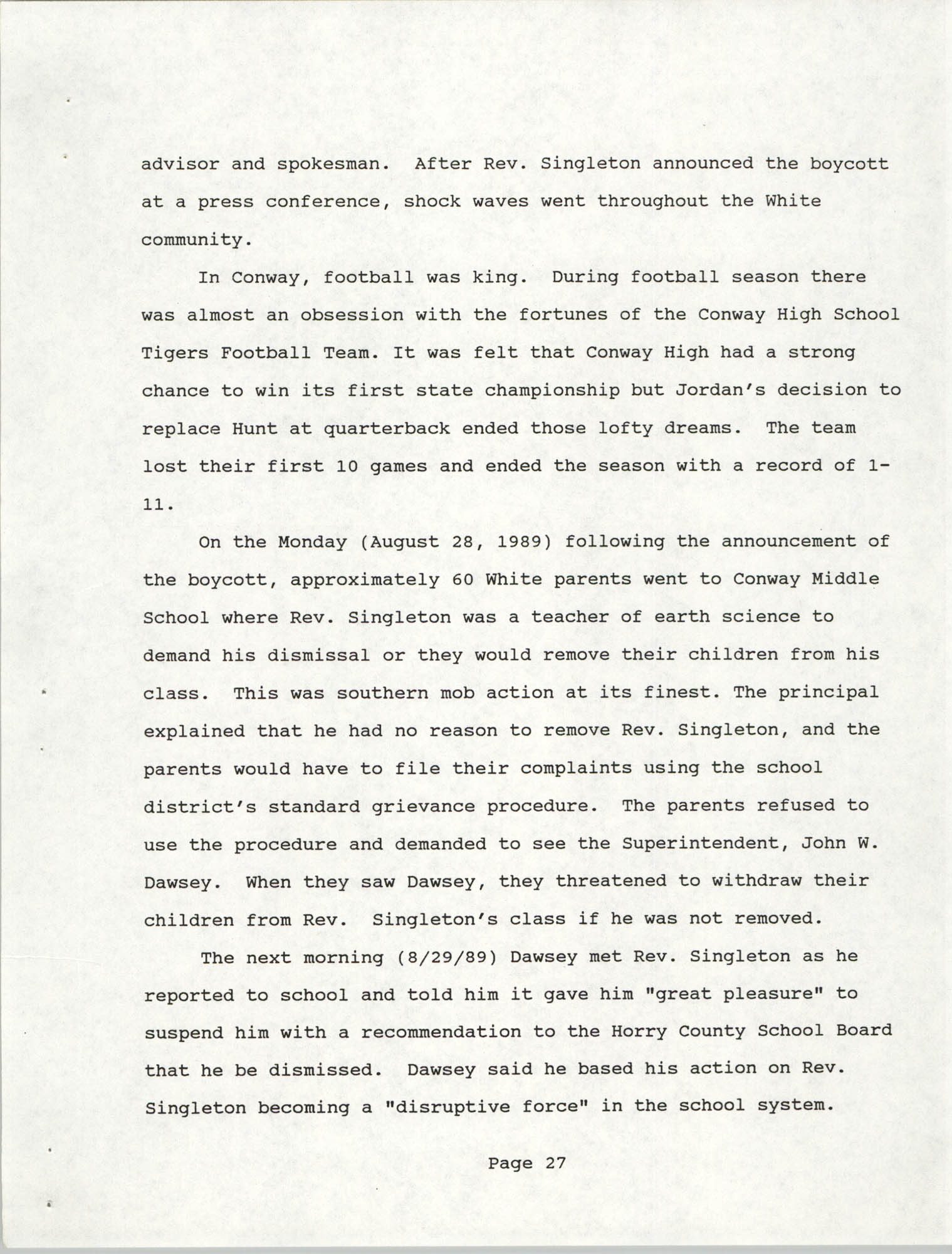 South Carolina Conference of Branches of the NAACP, 1990 Annual Report, Part Two, Page 27
