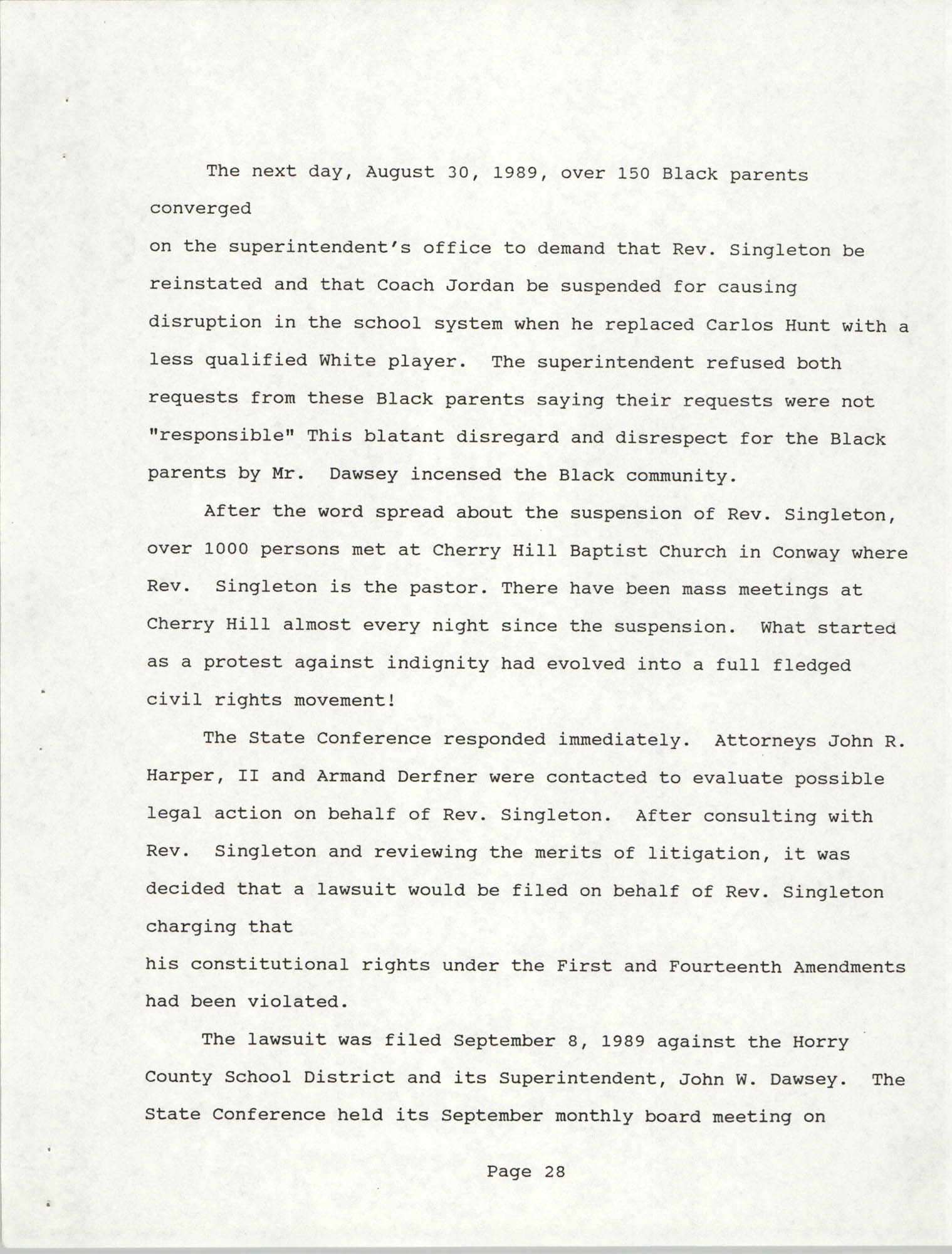 South Carolina Conference of Branches of the NAACP, 1990 Annual Report, Part Two, Page 28