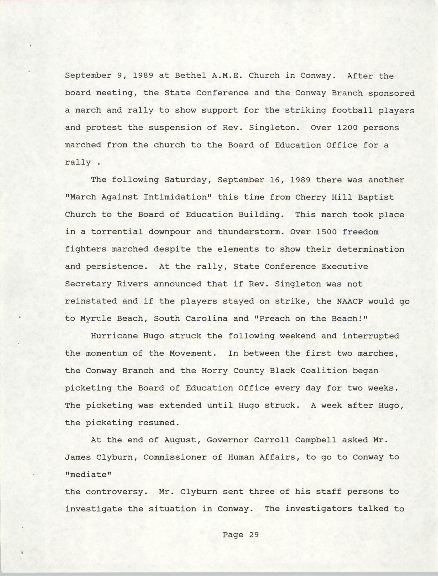 South Carolina Conference of Branches of the NAACP, 1990 Annual Report, Part Two, Page 29