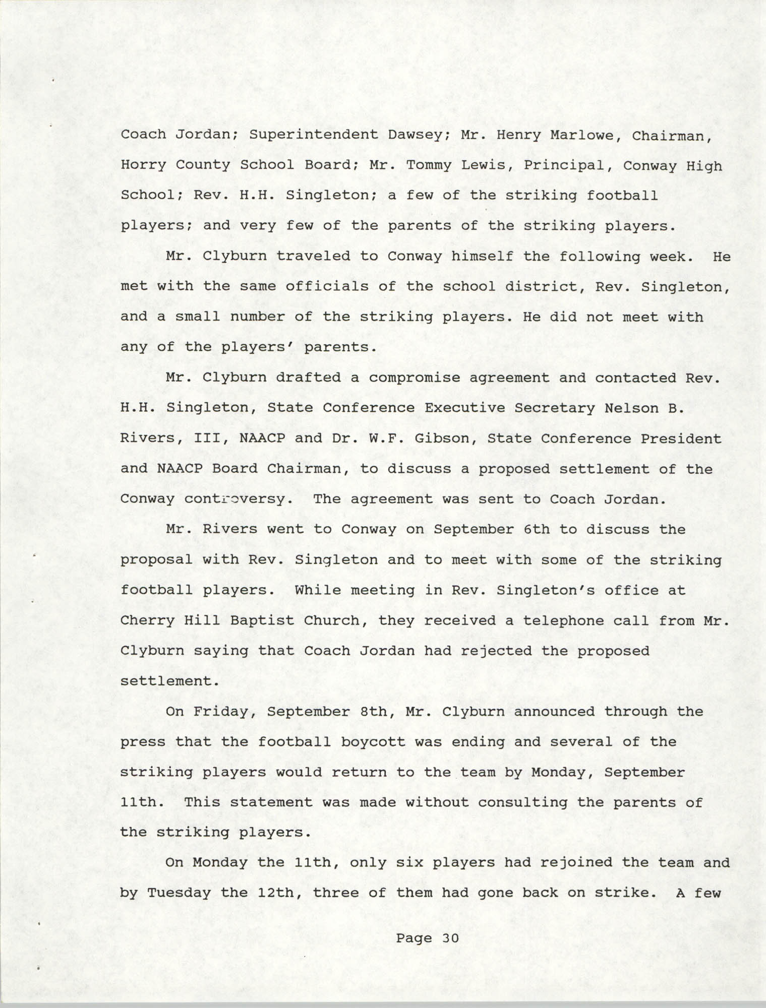 South Carolina Conference of Branches of the NAACP, 1990 Annual Report, Part Two, Page 30