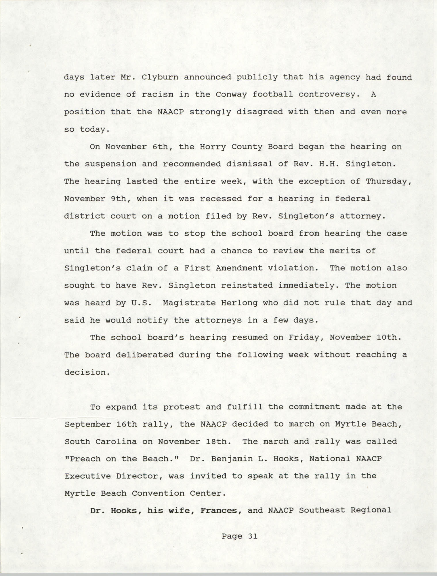 South Carolina Conference of Branches of the NAACP, 1990 Annual Report, Part Two, Page 31