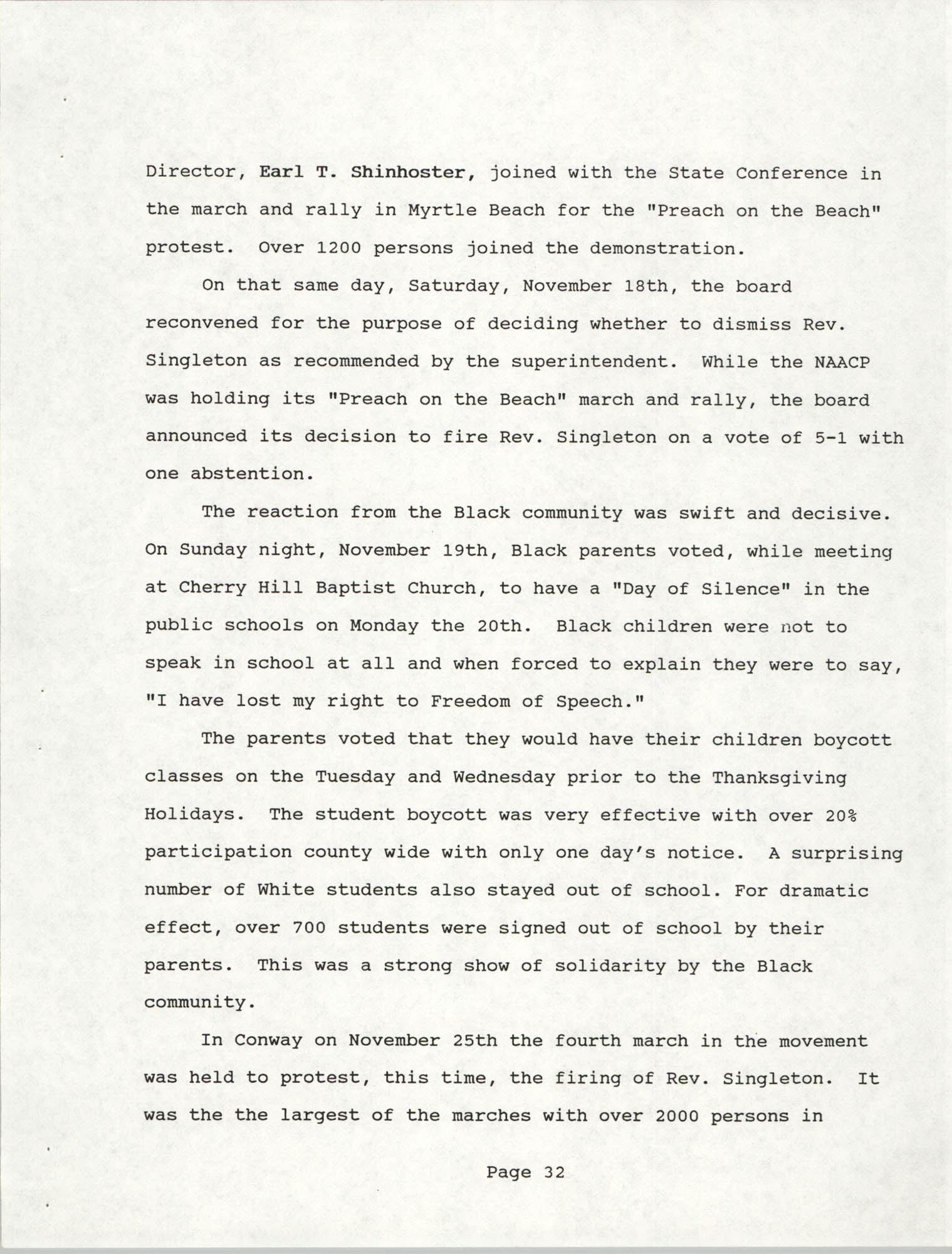 South Carolina Conference of Branches of the NAACP, 1990 Annual Report, Part Two, Page 32