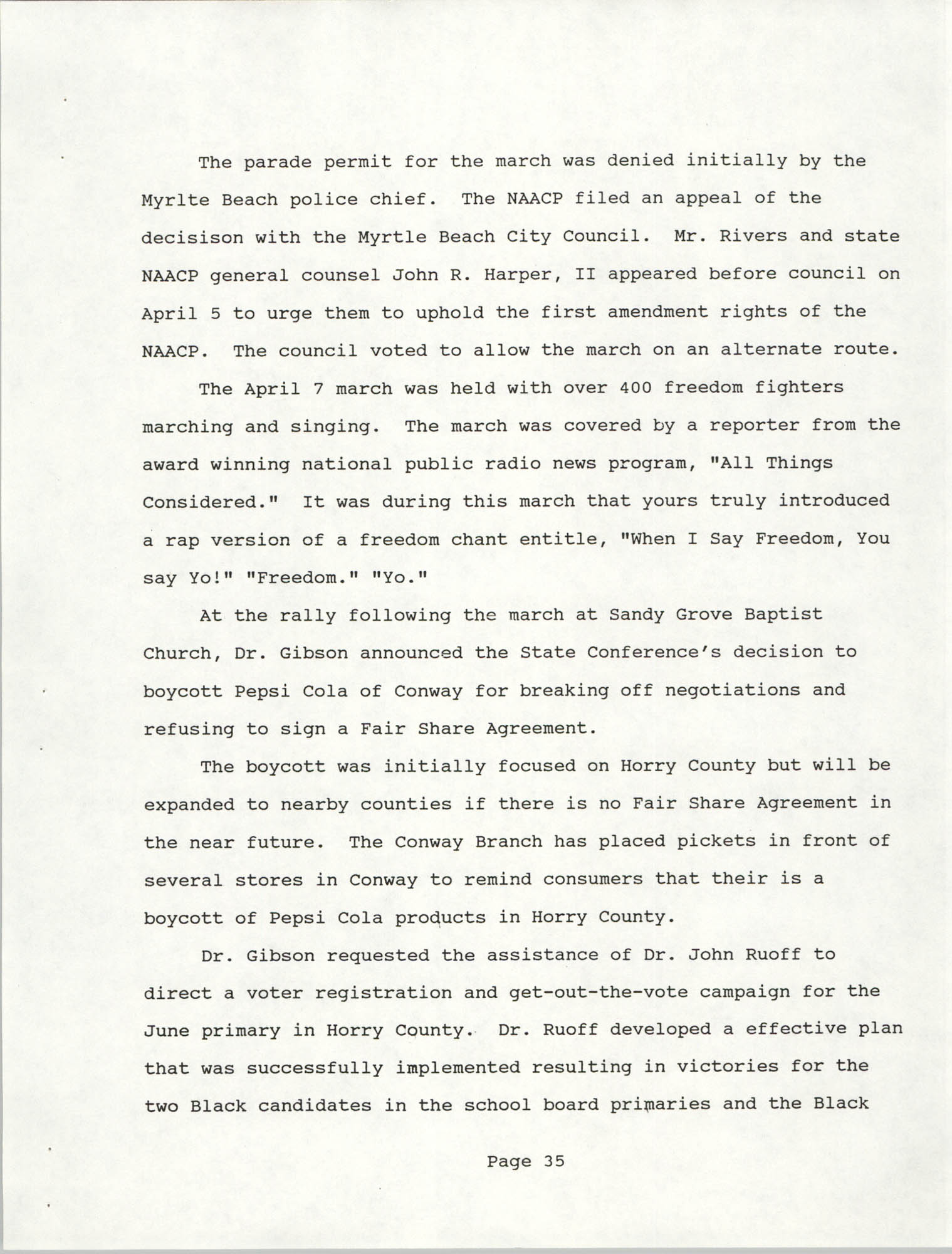 South Carolina Conference of Branches of the NAACP, 1990 Annual Report, Part Two, Page 35
