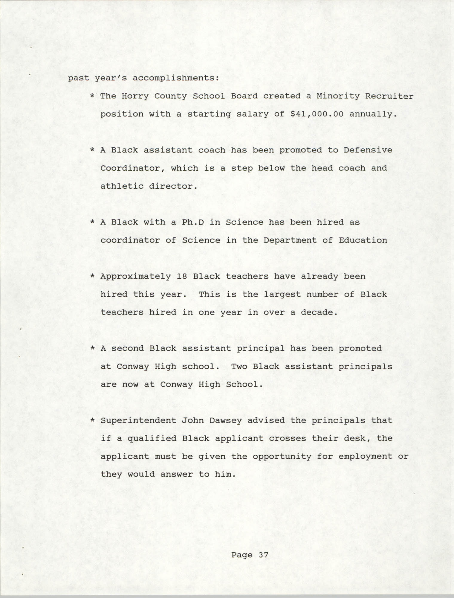 South Carolina Conference of Branches of the NAACP, 1990 Annual Report, Part Two, Page 37