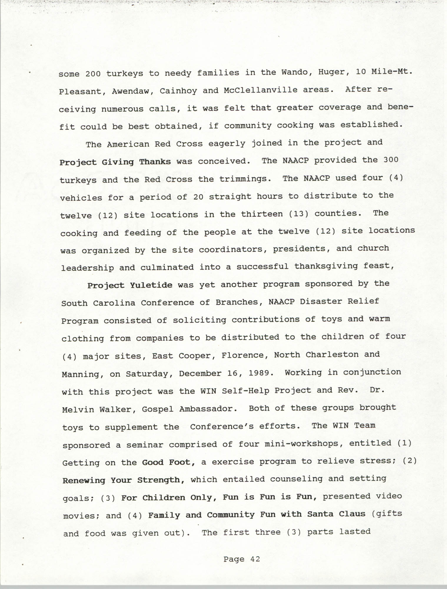South Carolina Conference of Branches of the NAACP, 1990 Annual Report, Part Two, Page 42