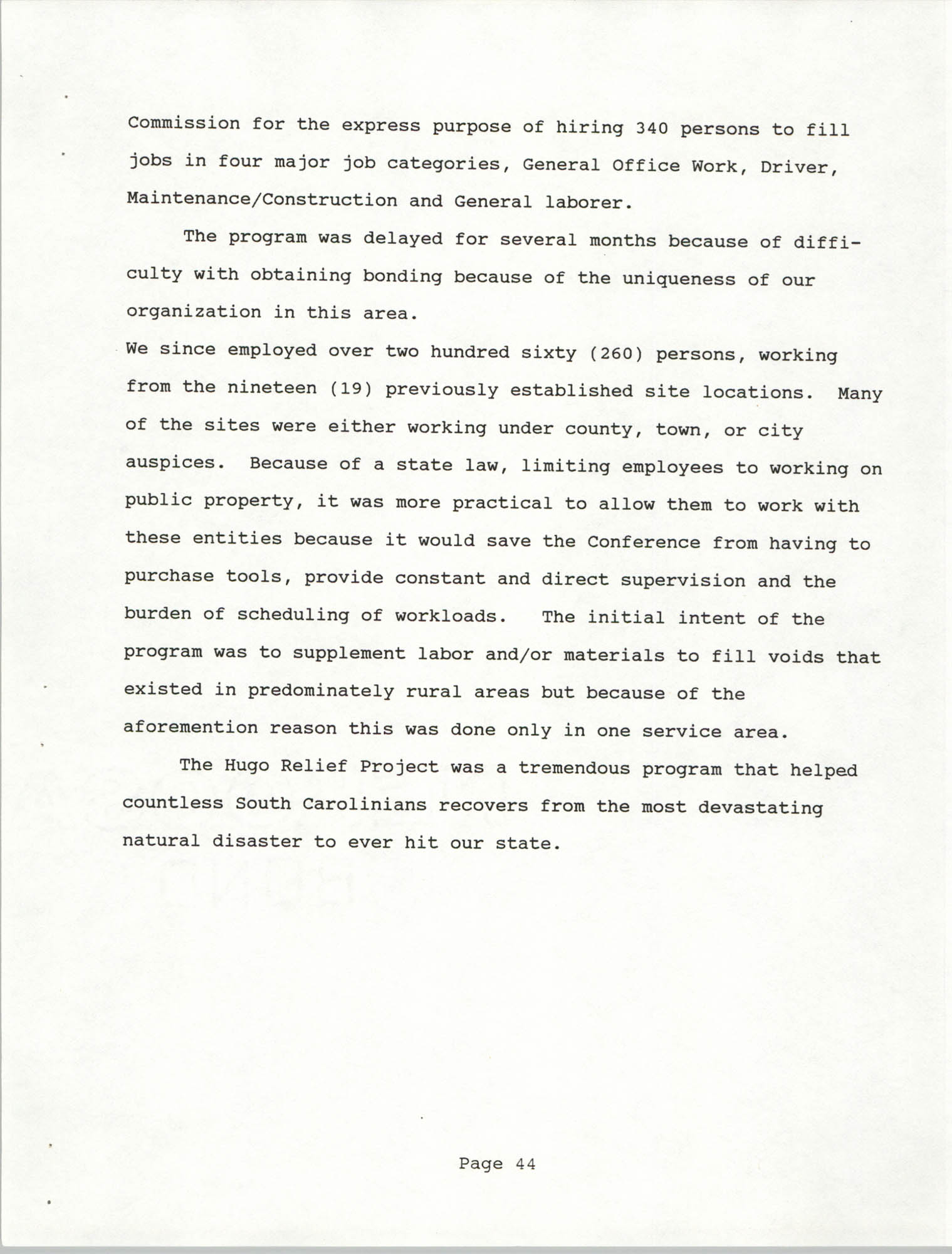 South Carolina Conference of Branches of the NAACP, 1990 Annual Report, Part Two, Page 44