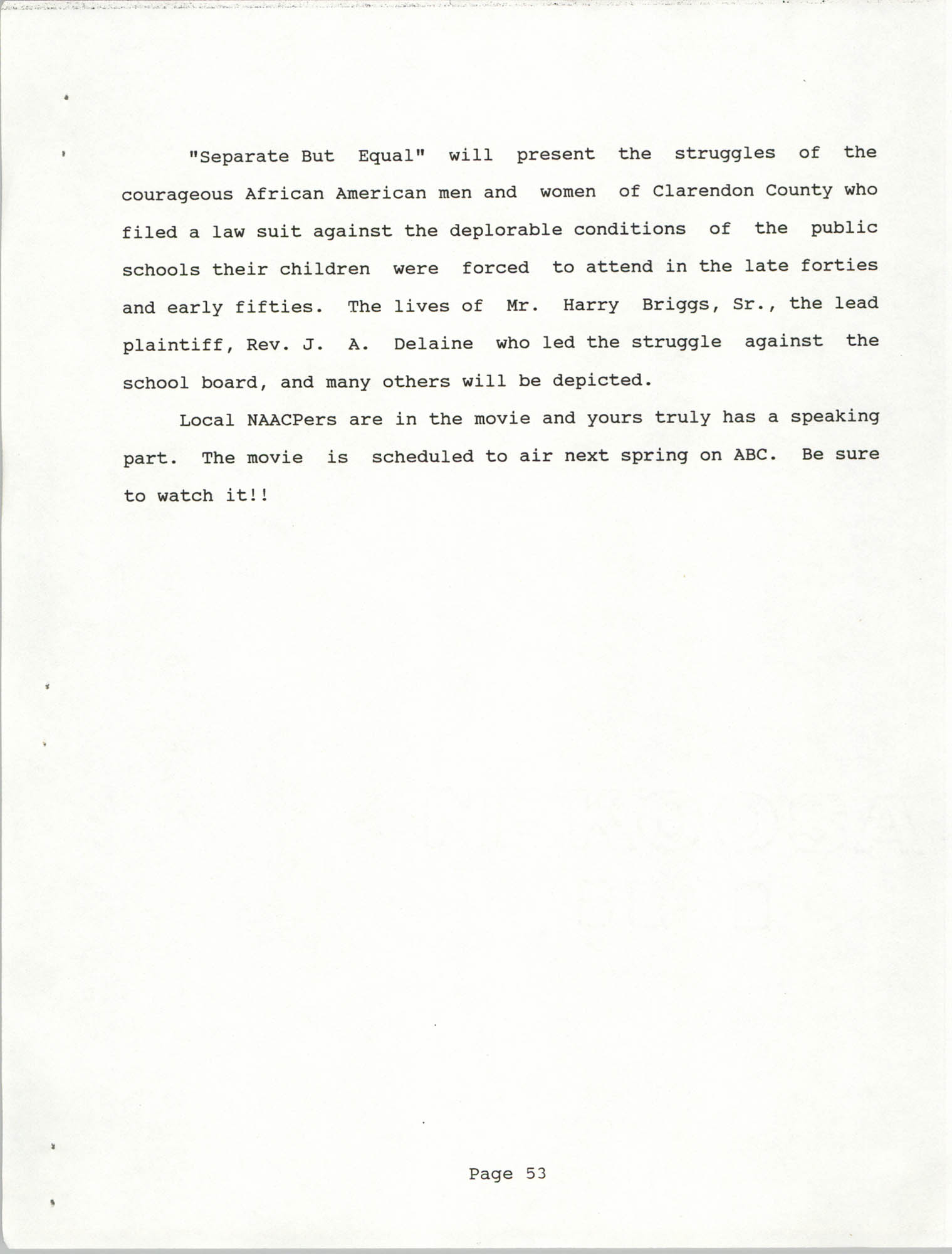 South Carolina Conference of Branches of the NAACP, 1990 Annual Report, Part Two, Page 53