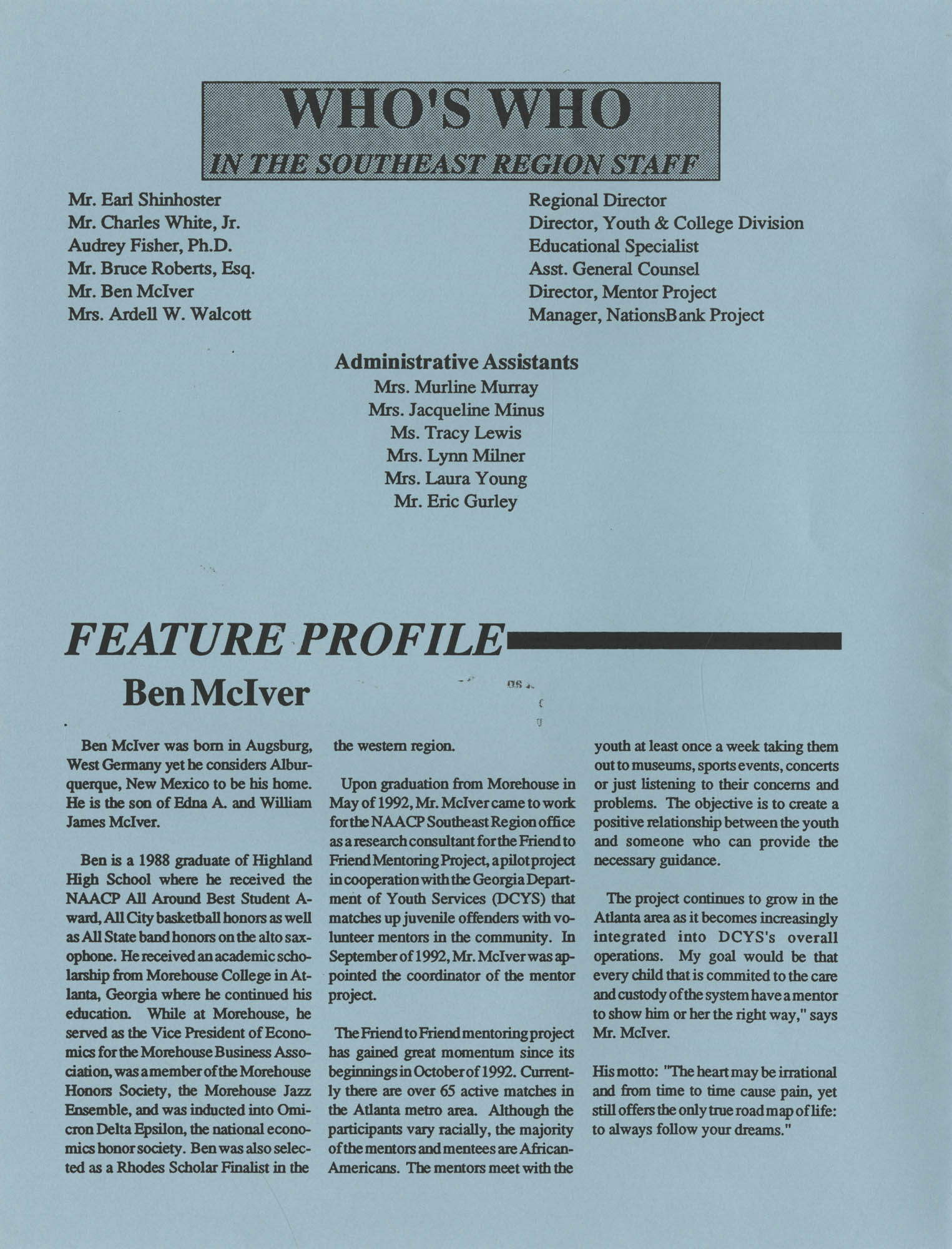 NAACP V, Southeast Region Newsletter, Page 2