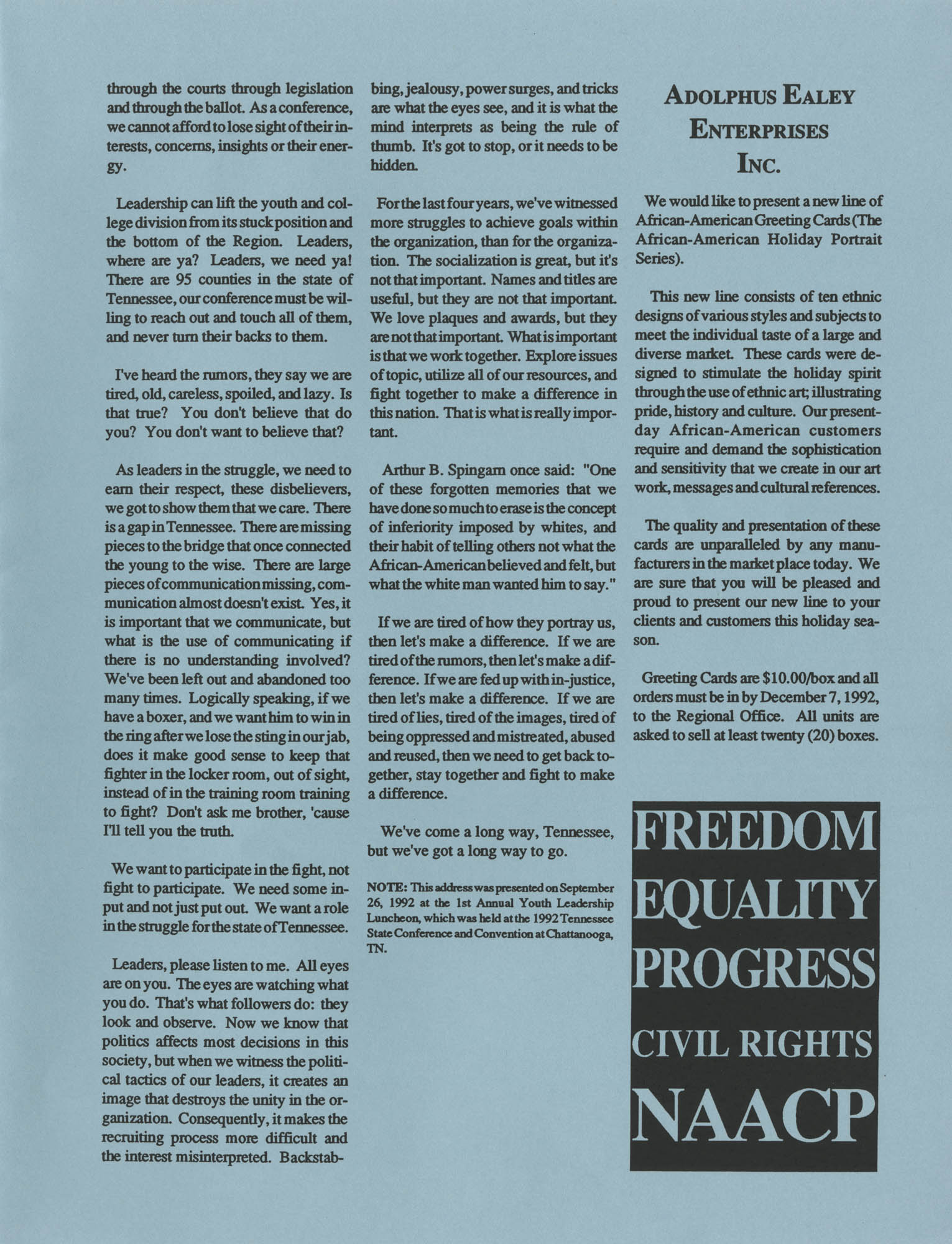 NAACP V, Southeast Region Newsletter, Page 7