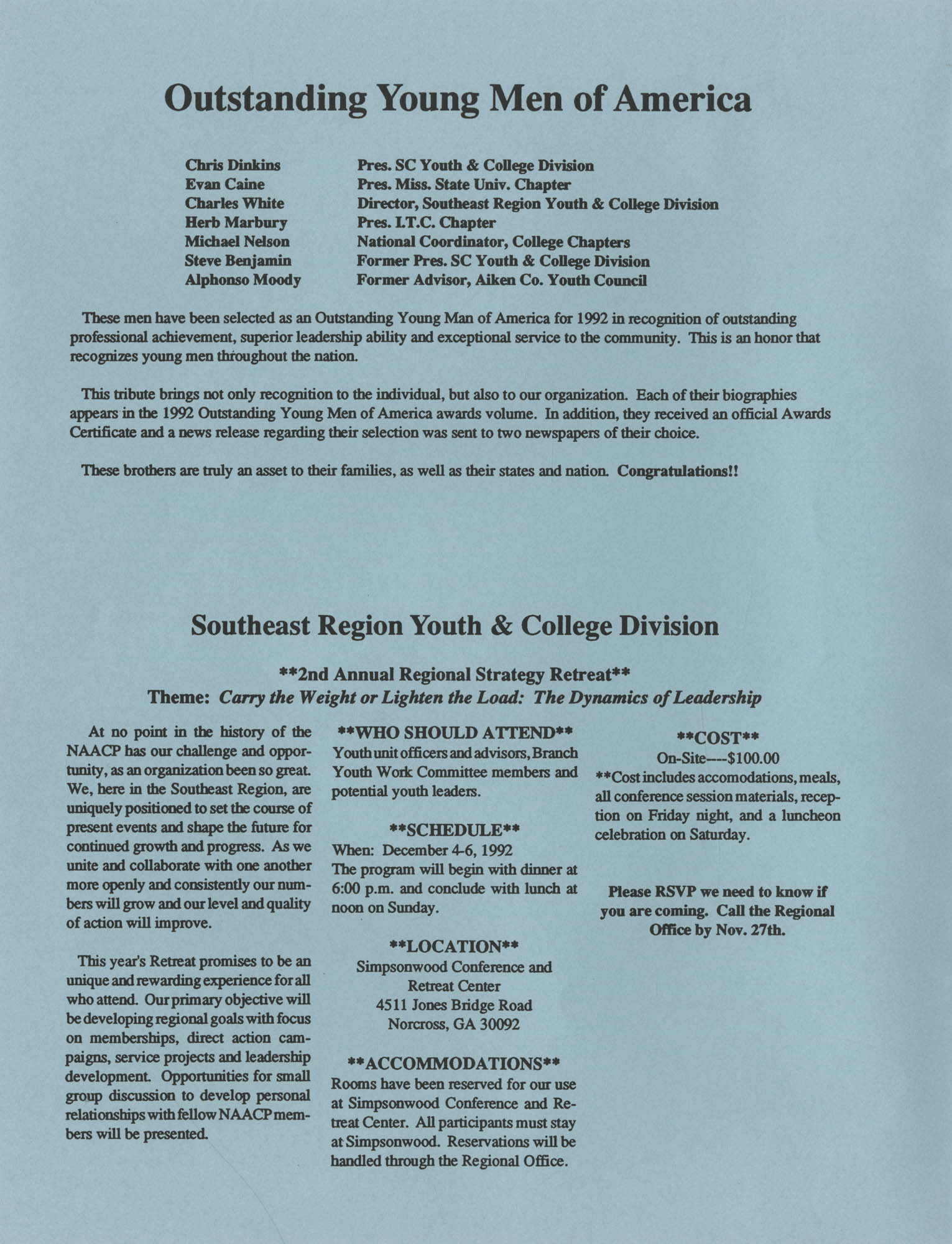 NAACP V, Southeast Region Newsletter, Page 8