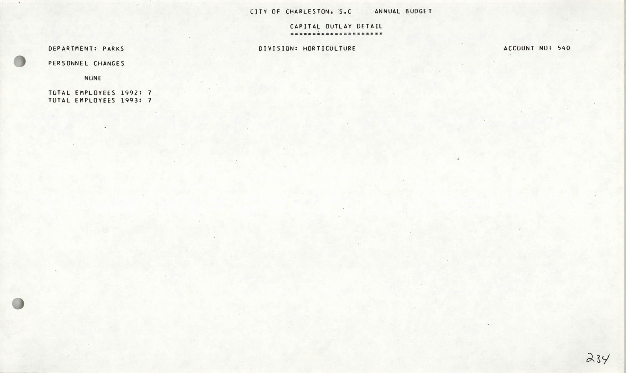 The City Council of Charleston, South Carolina, 1993 Budget, Page 234
