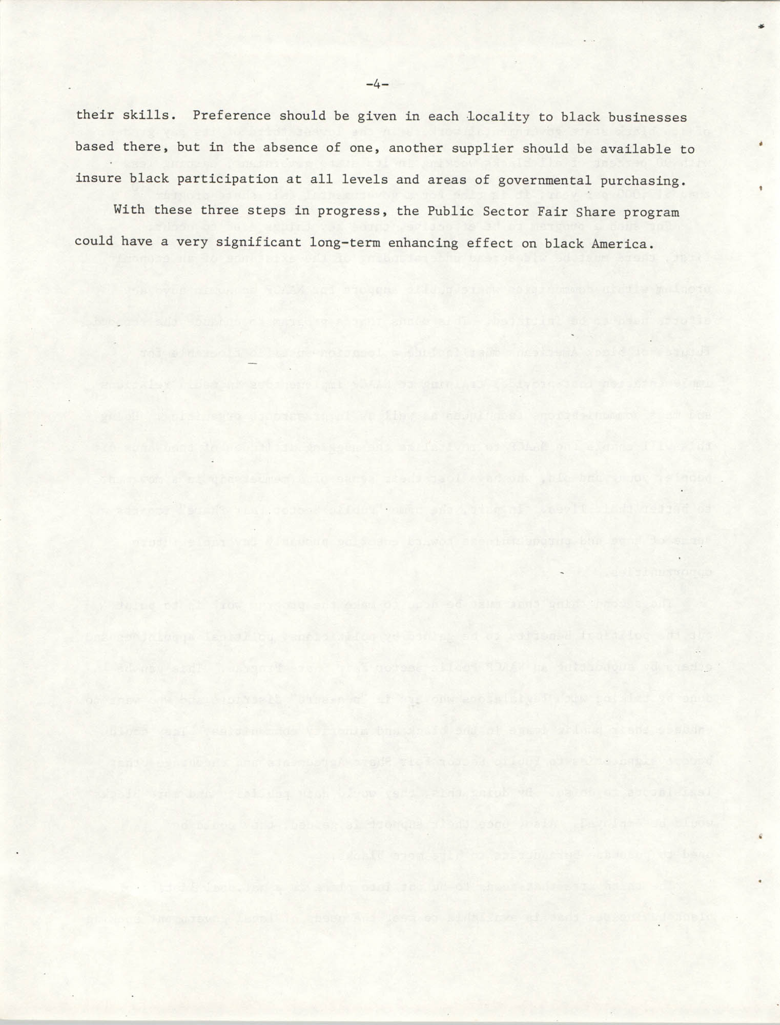 Governmental Fair Share Workshop for South Carolina Conference of Branches, October 11, 1985, Page 4