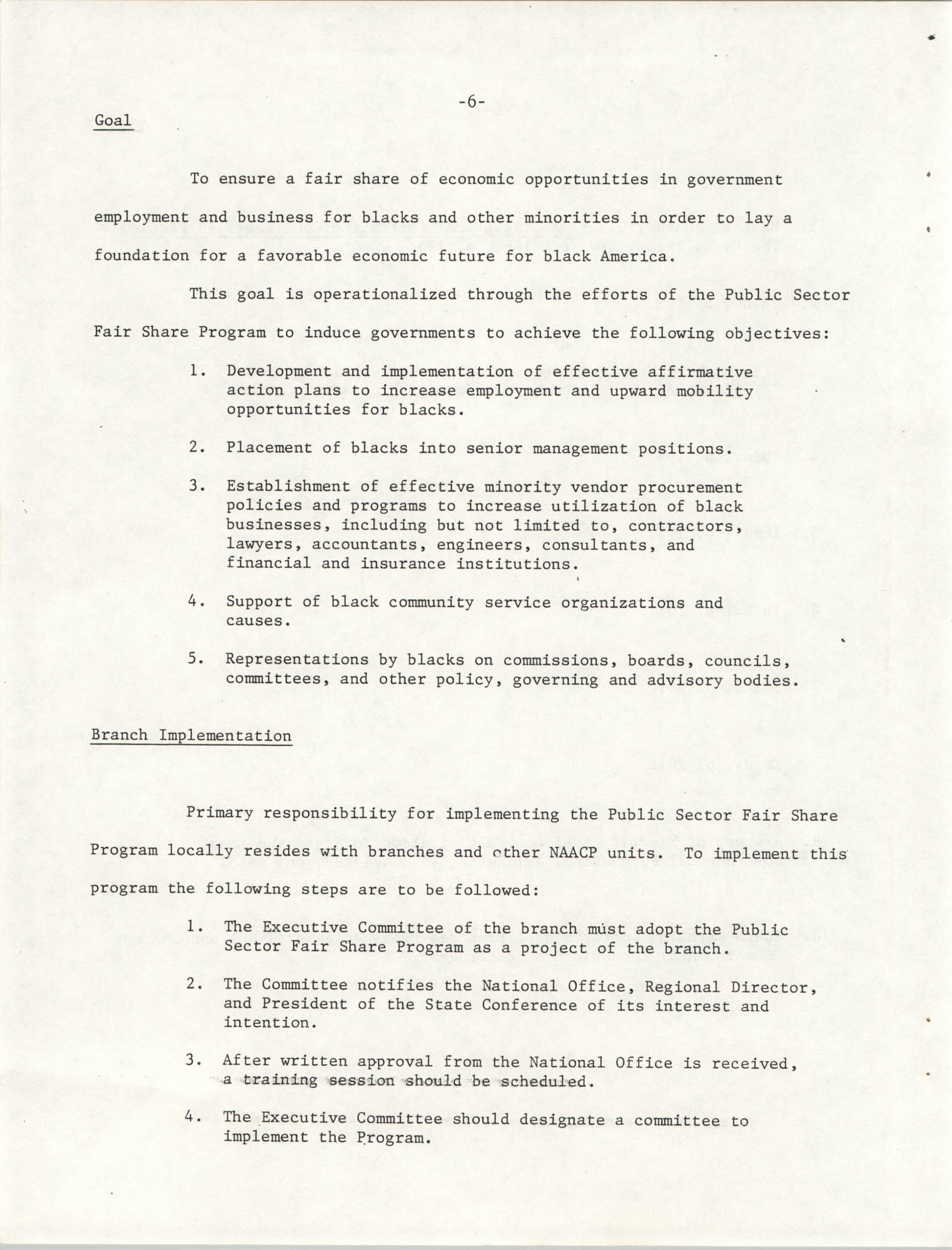 Governmental Fair Share Workshop for South Carolina Conference of Branches, October 11, 1985, Page 6
