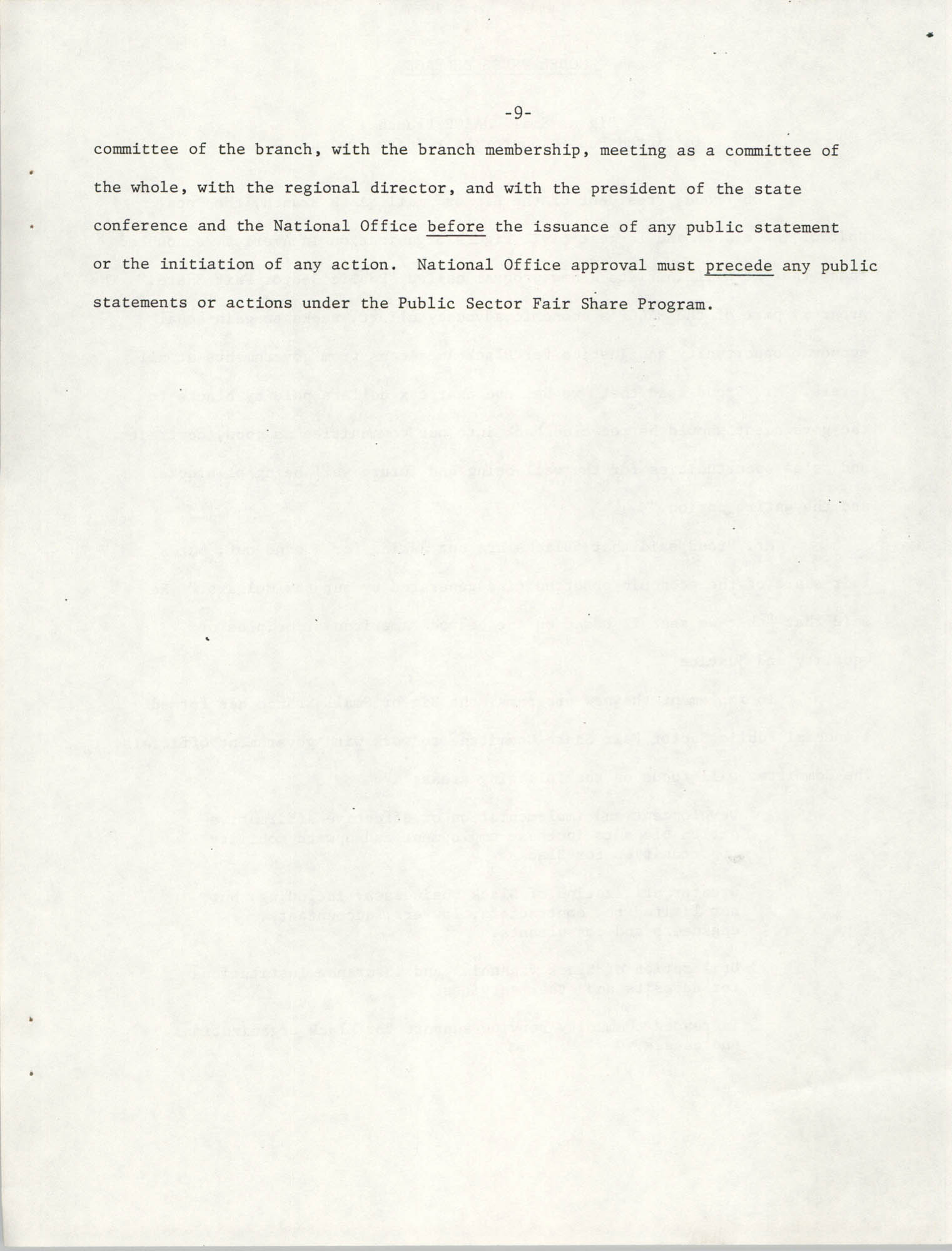 Governmental Fair Share Workshop for South Carolina Conference of Branches, October 11, 1985, Page 9
