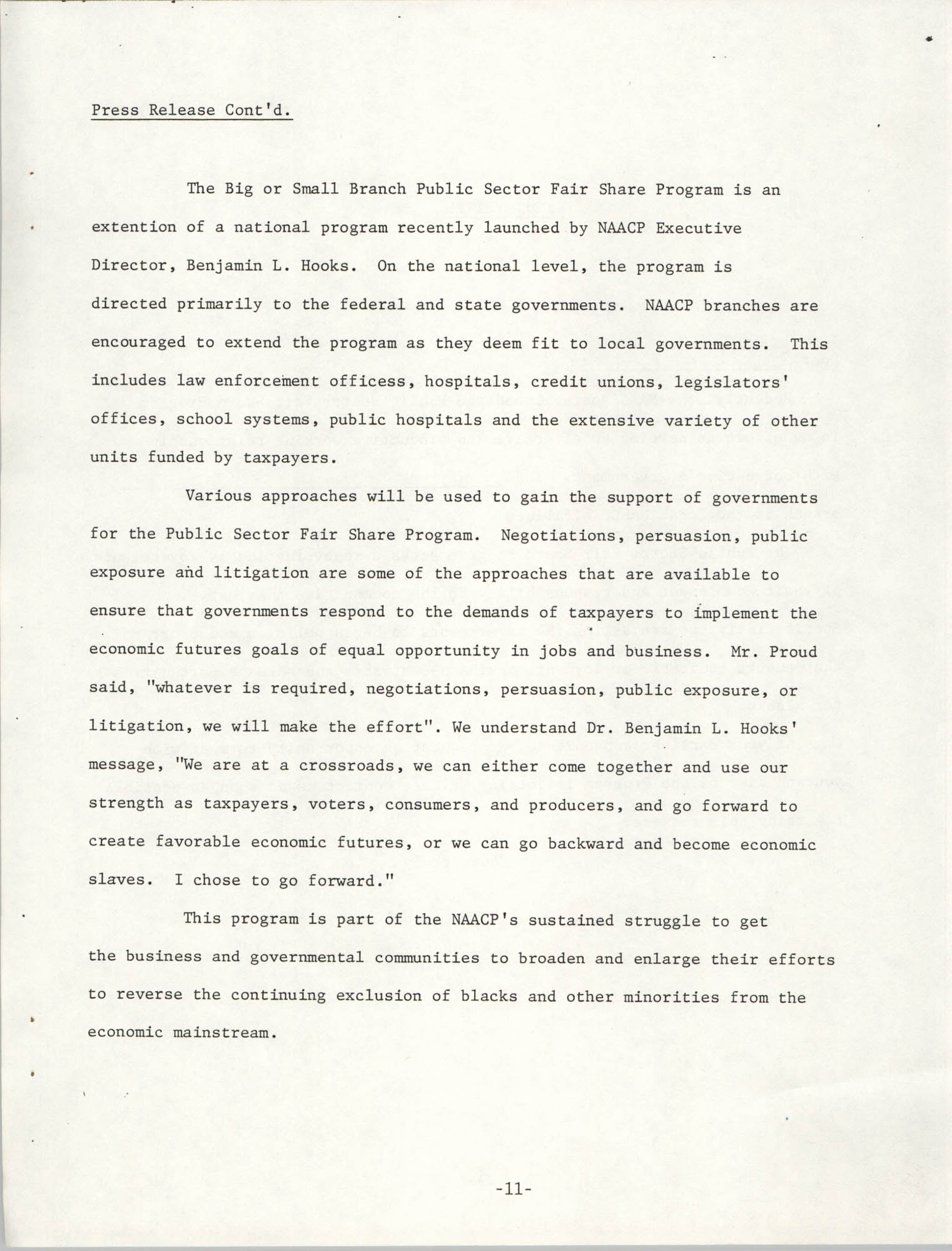Governmental Fair Share Workshop for South Carolina Conference of Branches, October 11, 1985, Page 11