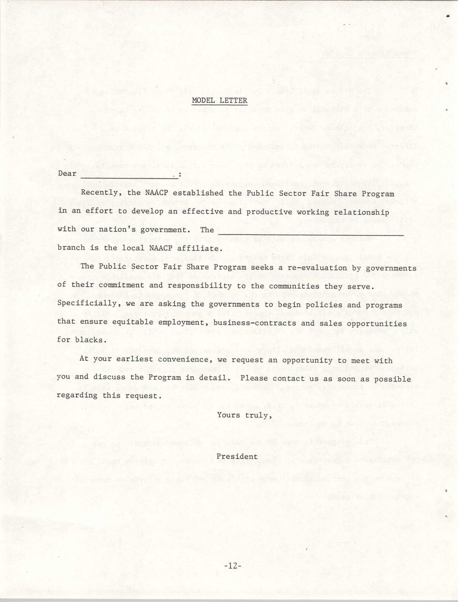 Governmental Fair Share Workshop for South Carolina Conference of Branches, October 11, 1985, Page 12