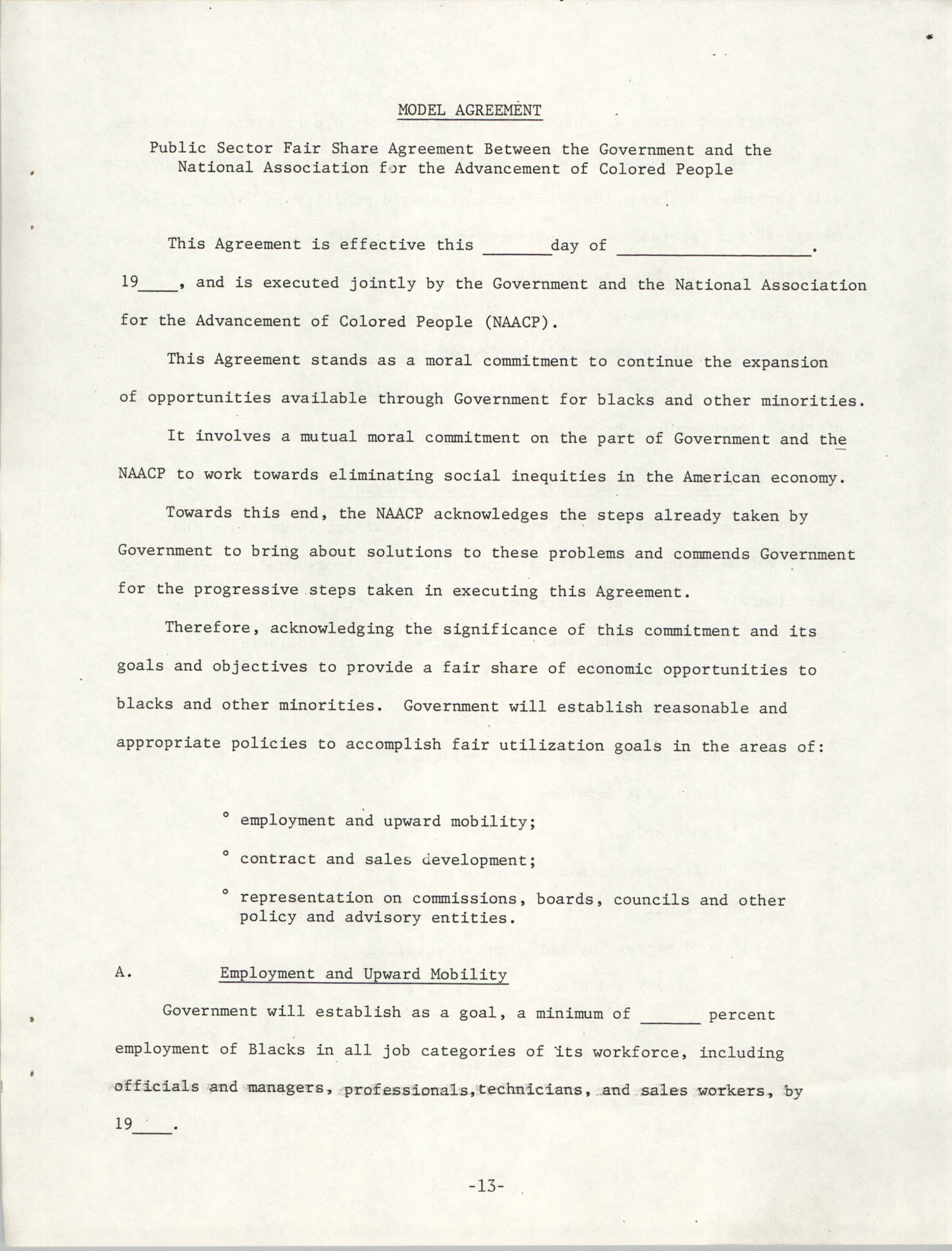 Governmental Fair Share Workshop for South Carolina Conference of Branches, October 11, 1985, Page 13