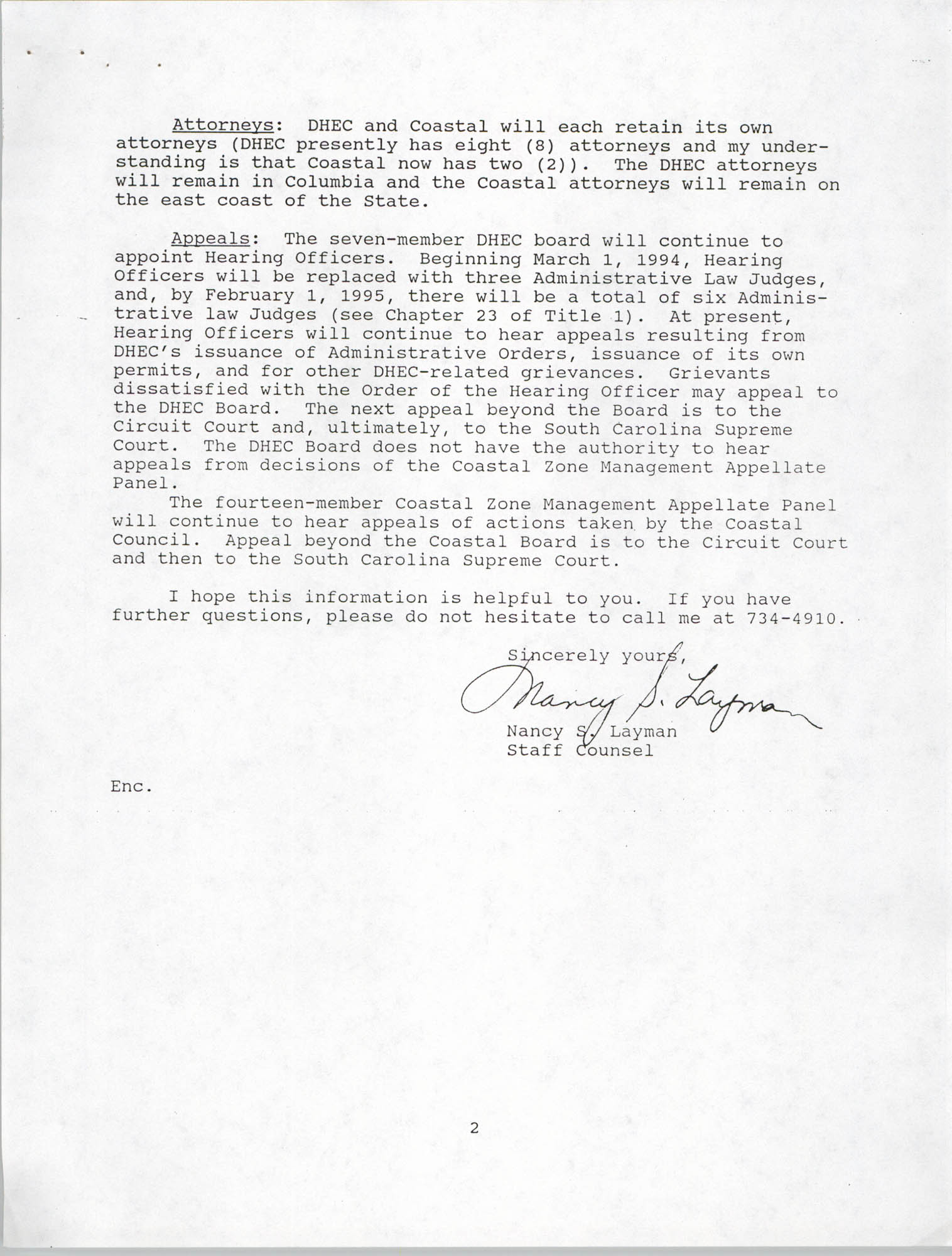 Letter from Nancy S. Layman to Andrea Loney, September 19, 1993, Page 2