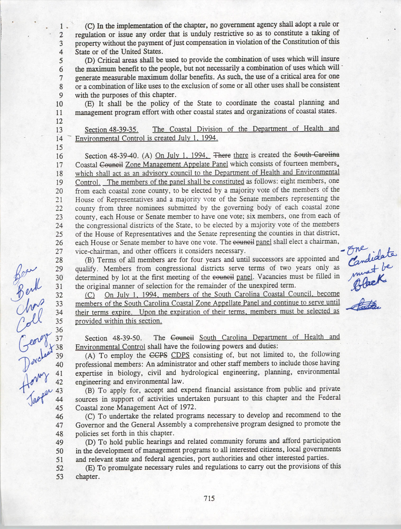 Restructuring Bill, Page 715