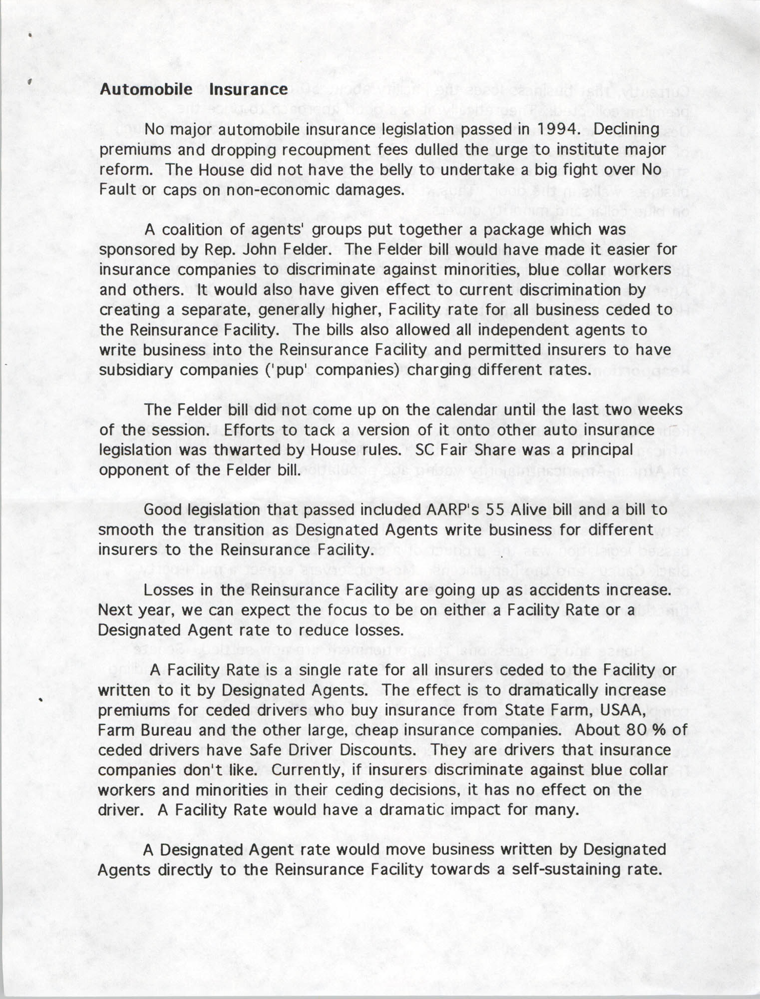 South Carolina Fair Share Legislative Update, June 30, 1994, Page 7