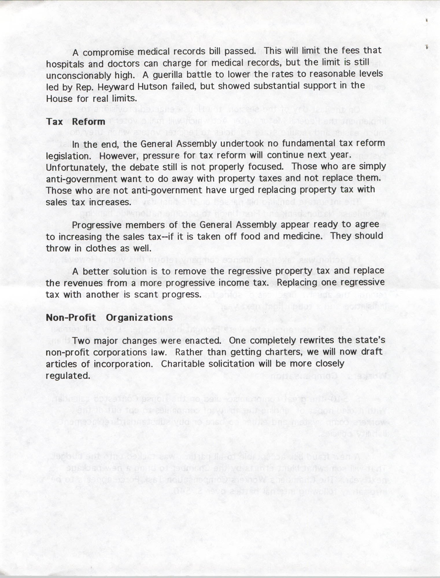 South Carolina Fair Share Legislative Update, June 30, 1994, Page 10