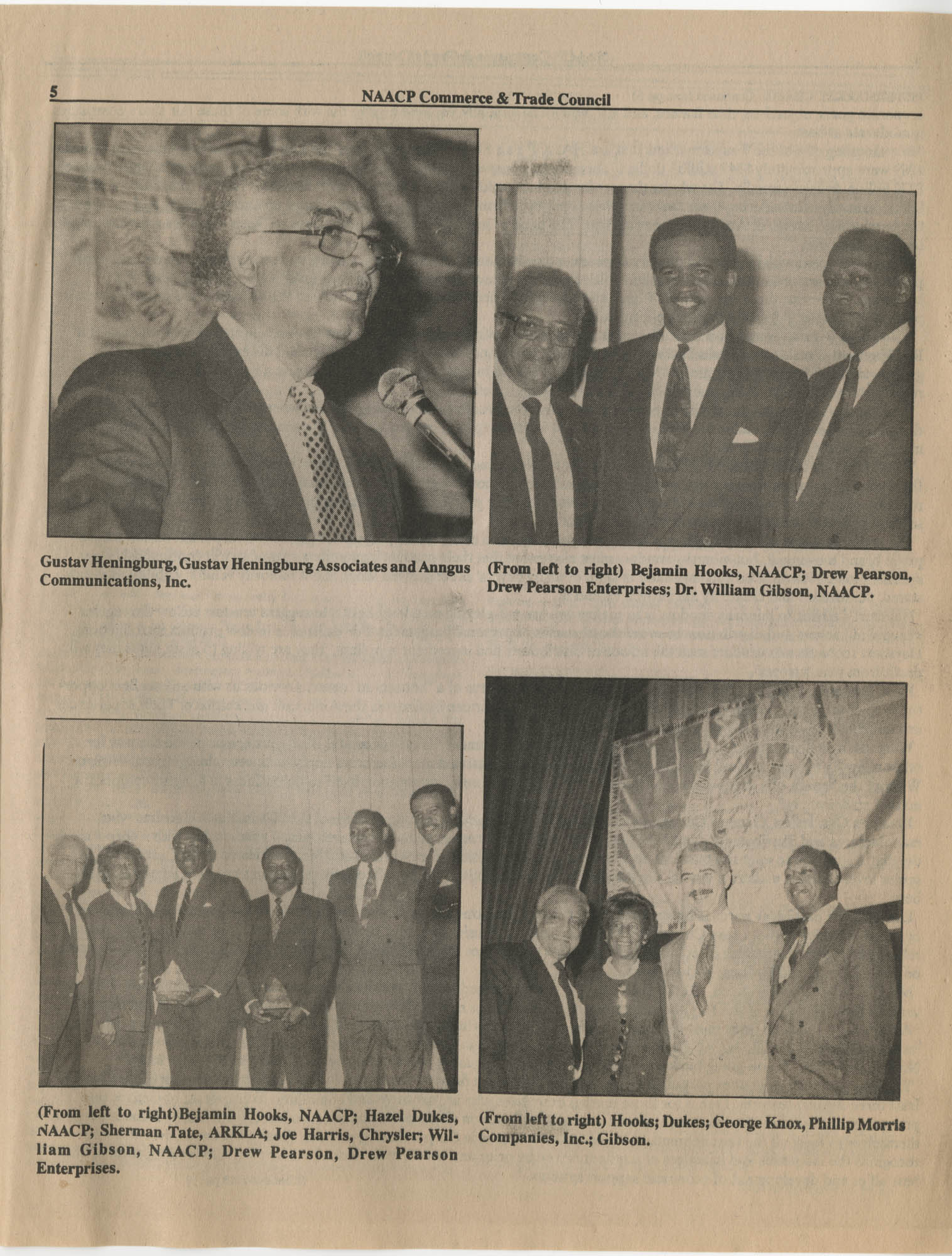 NAACP Commerce and Trade Council, July/September 1991, Vol. 1, Issue 1, Page 5