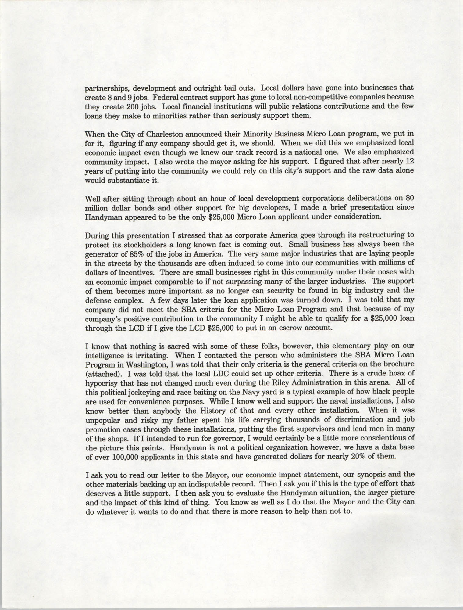 Letter from Andre V. Woods to Dwight James, March 19, 1993, Page 2