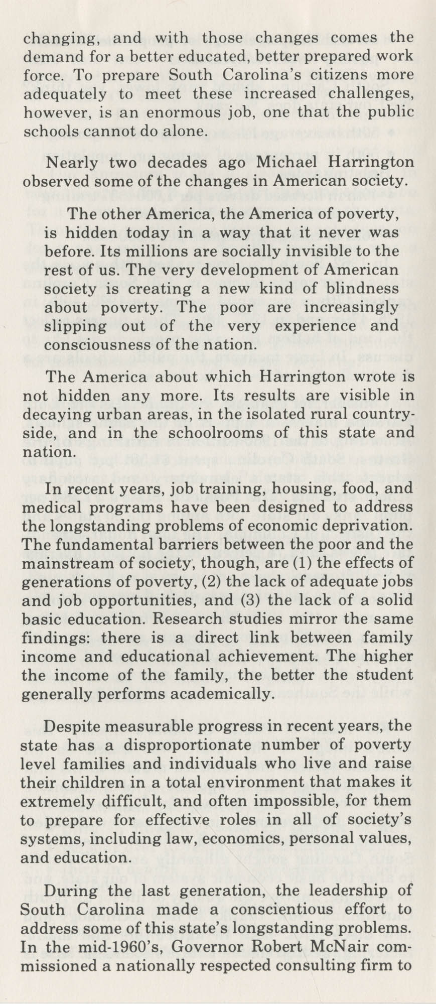 Education-Economy, Inseparable Forces in South Carolina's Past and Future, Page 5