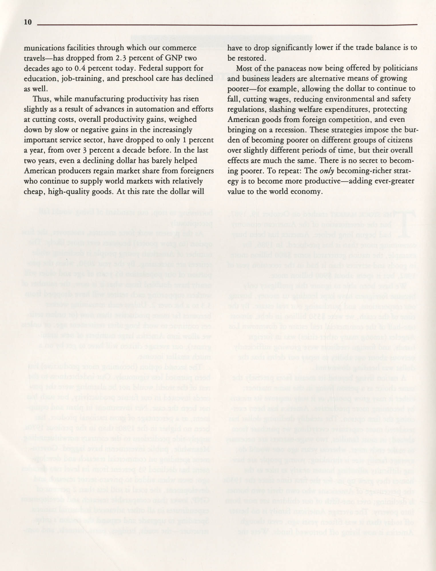 Education and the Next Economy, Page 10