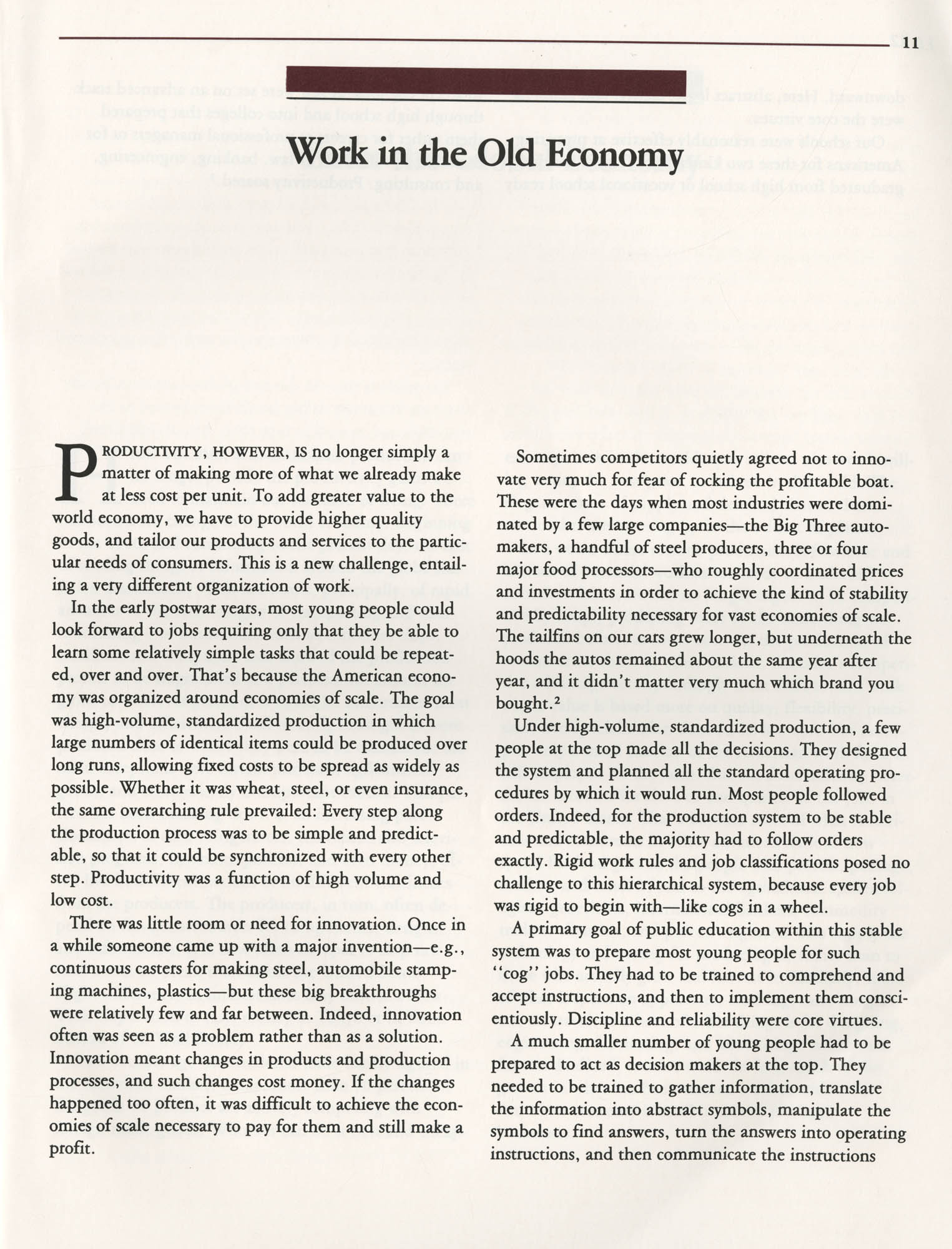 Education and the Next Economy, Page 11