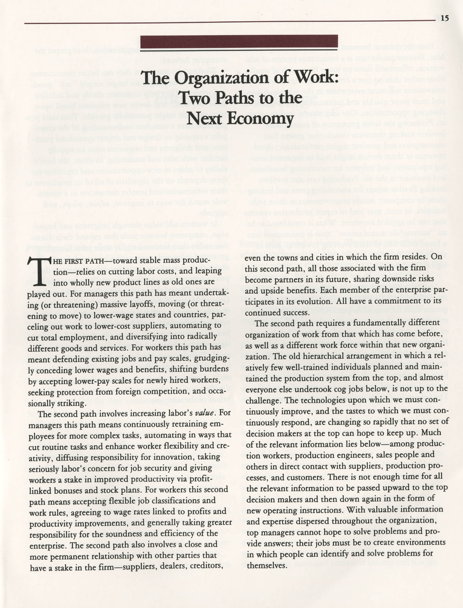 Education and the Next Economy, Page 15