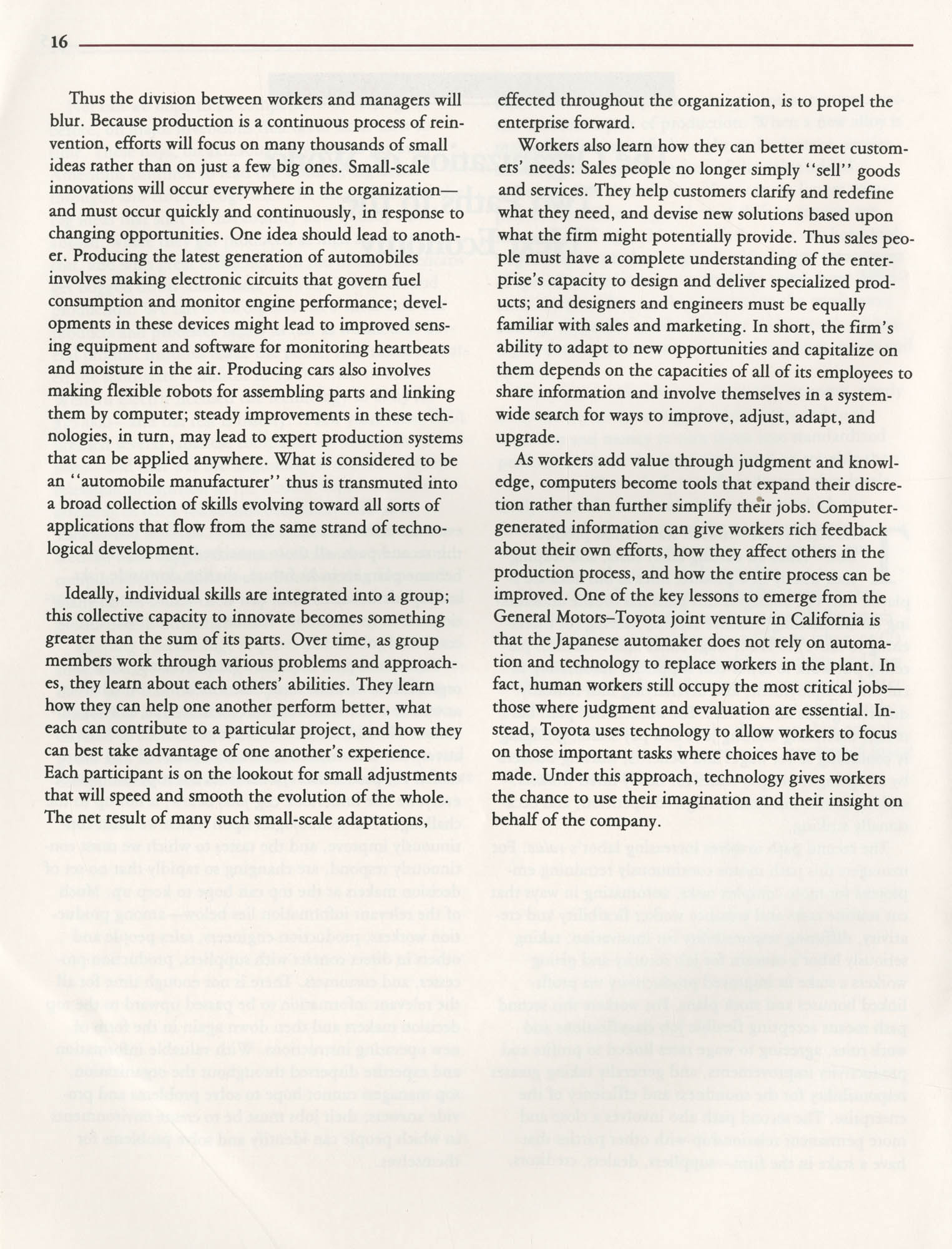 Education and the Next Economy, Page 16