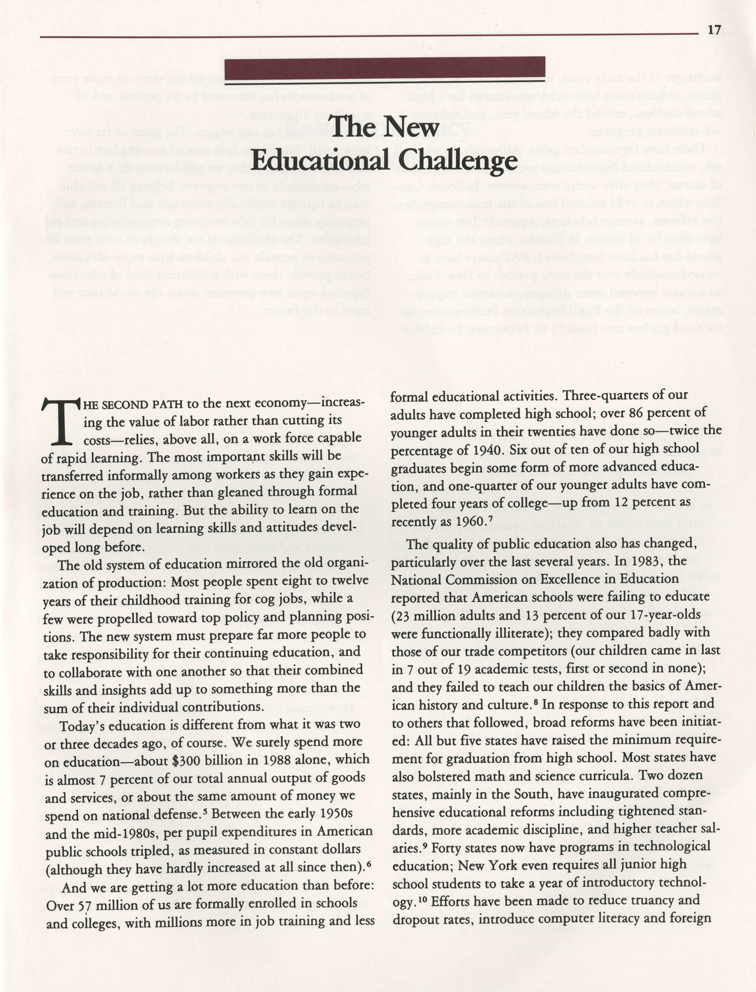 Education and the Next Economy, Page 17