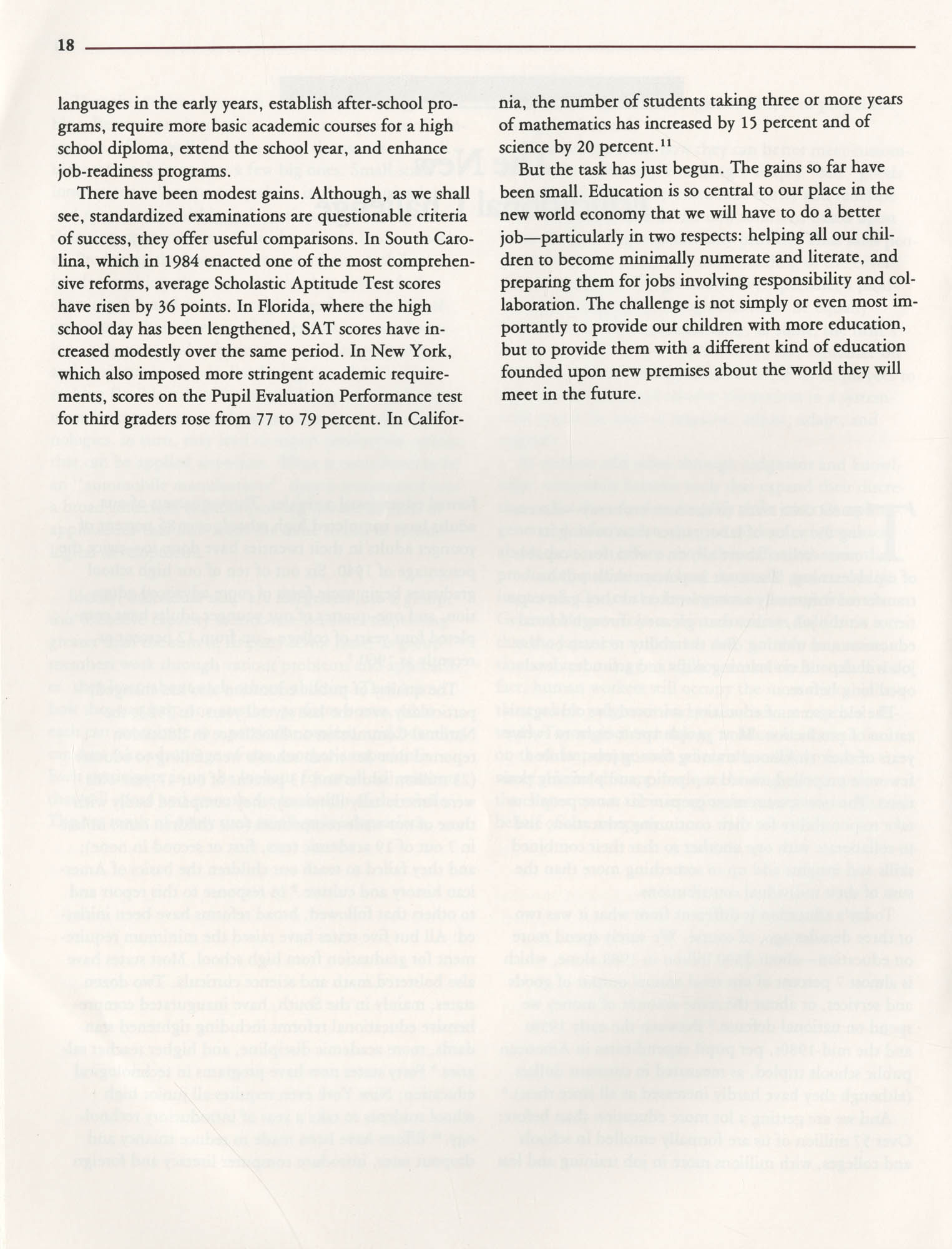 Education and the Next Economy, Page 18