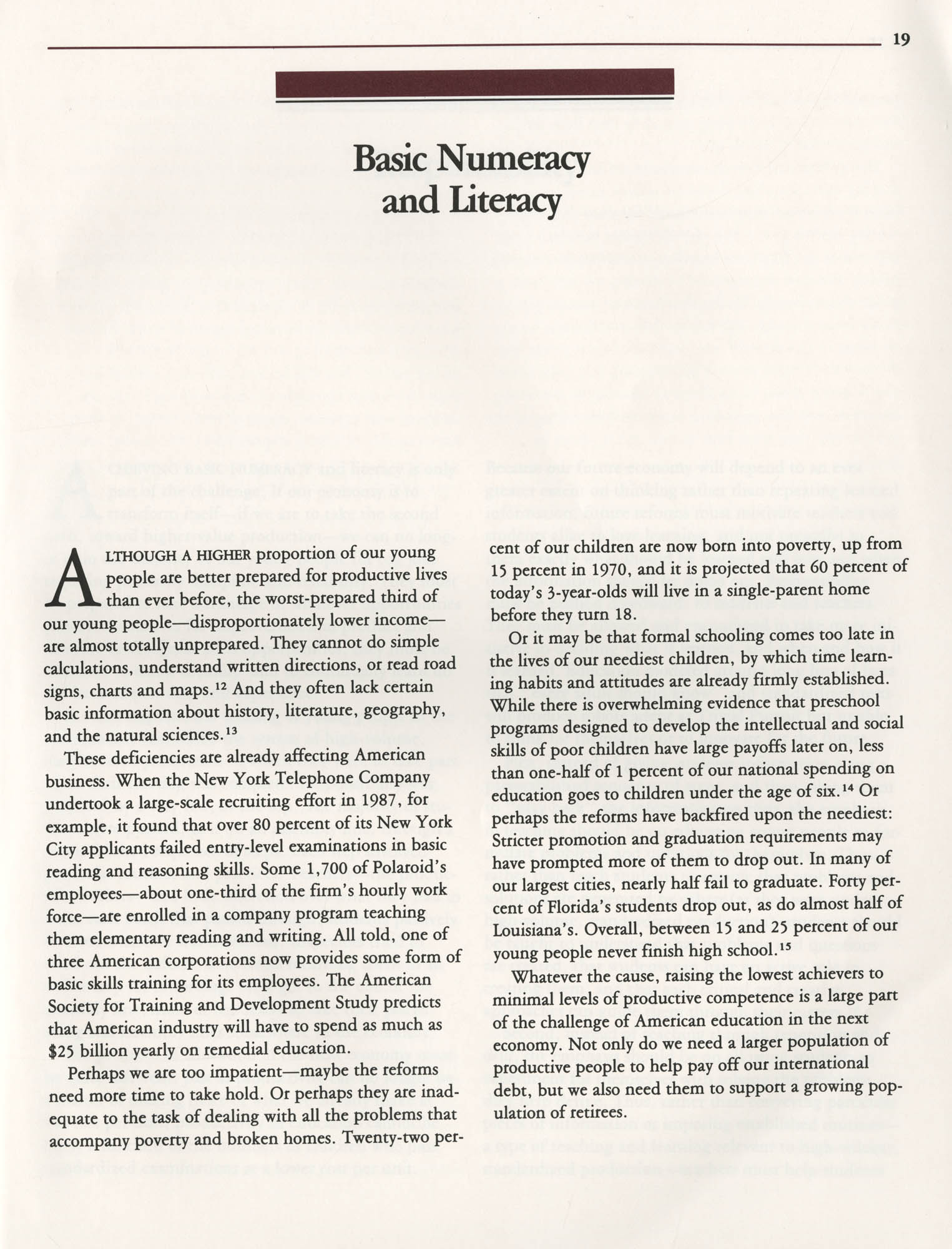 Education and the Next Economy, Page 19