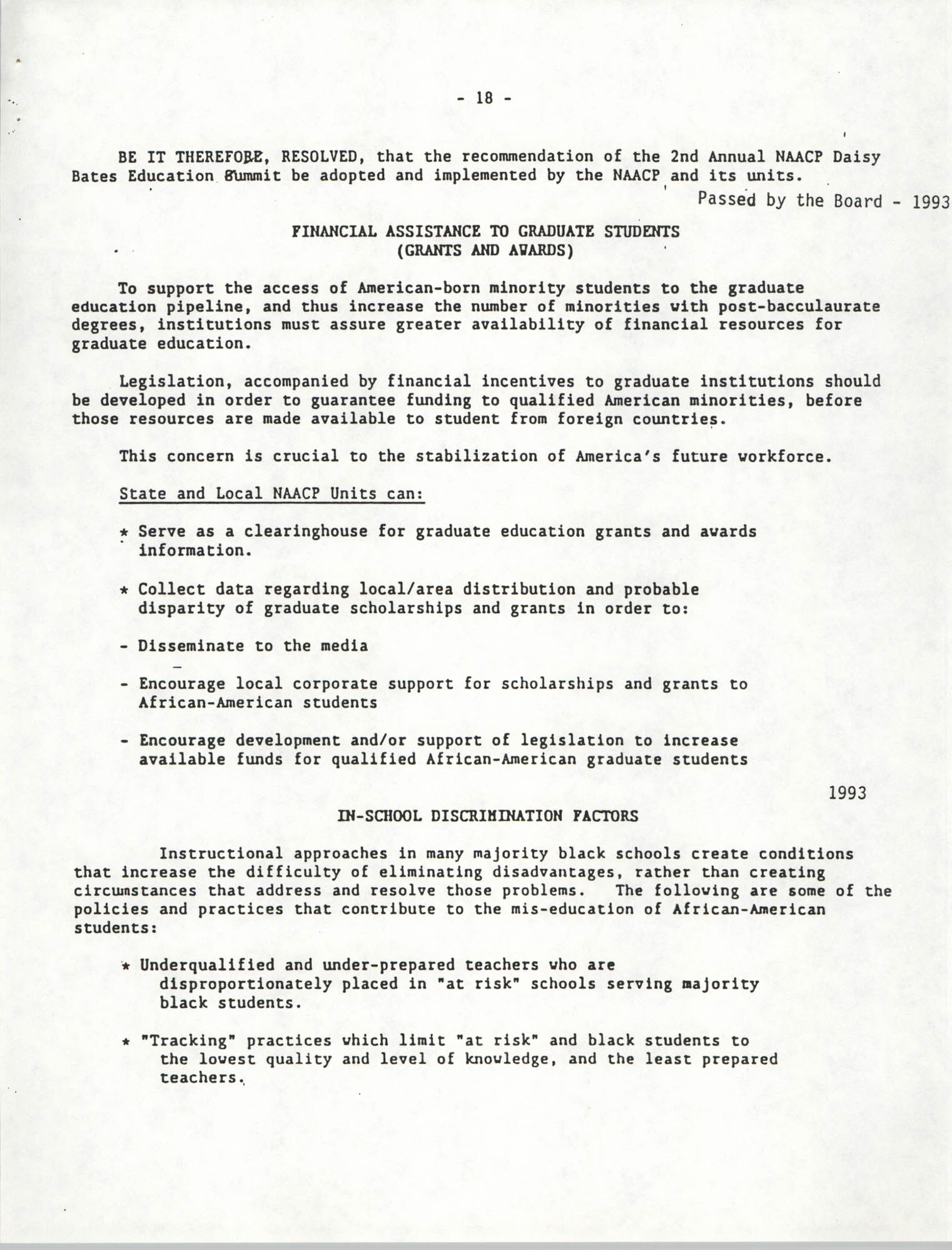 Education Resolutions 1993, Page 18
