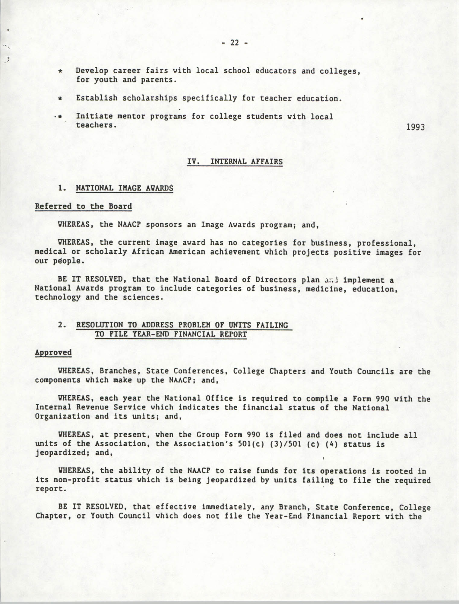 Education Resolutions 1993, Page 22