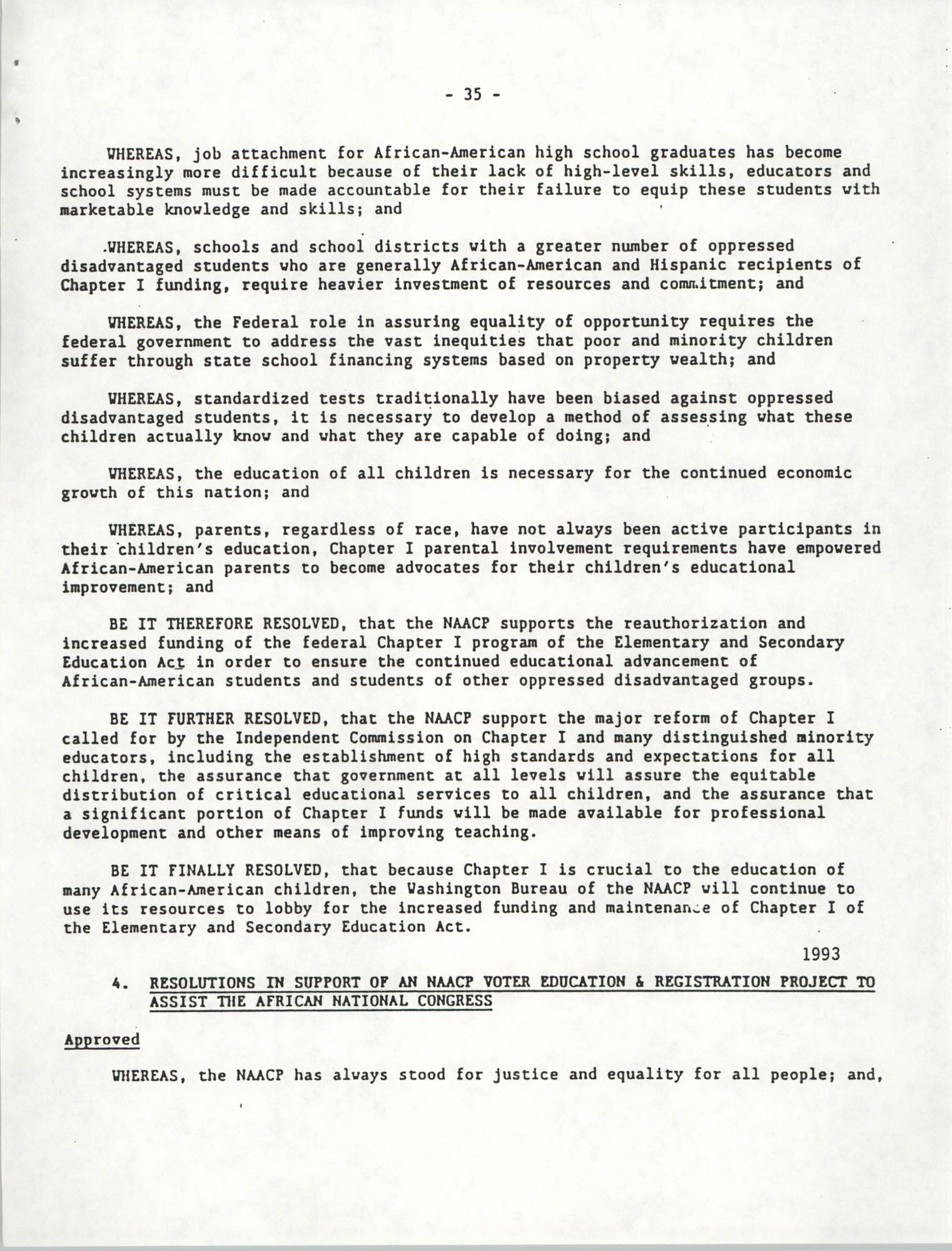 Education Resolutions 1993, Page 35