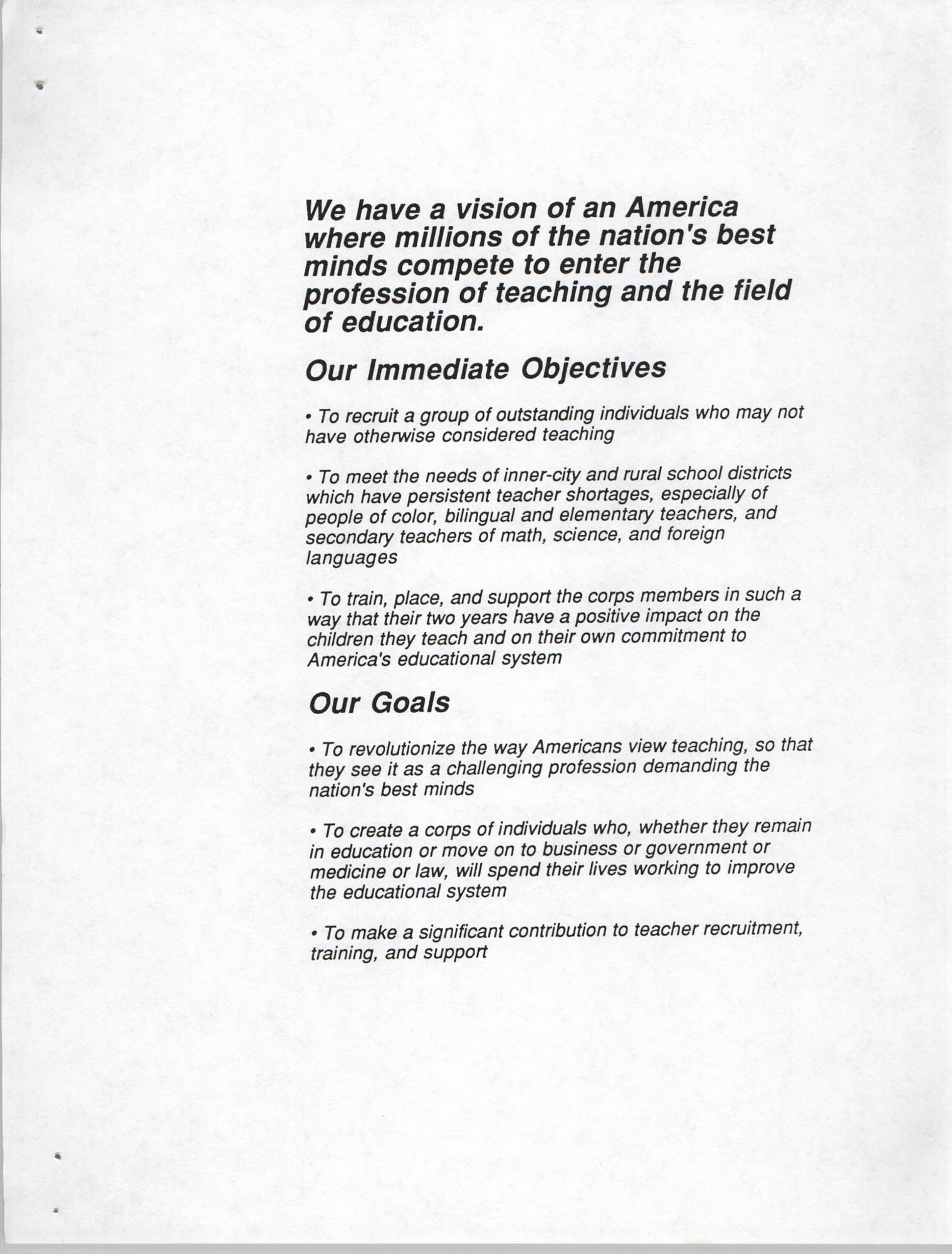 Teach for America, Introduction, Page 2