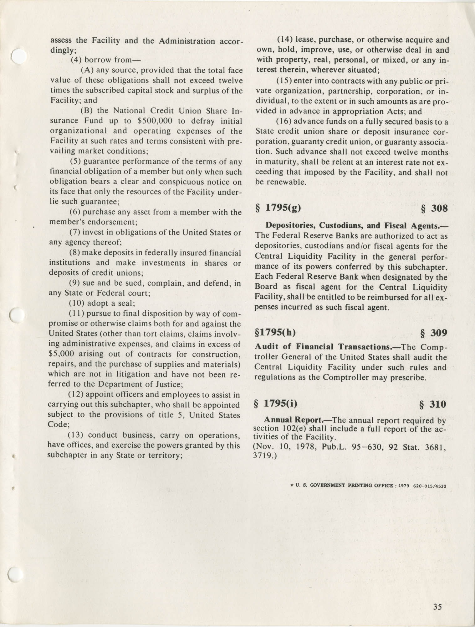 The Federal Credit Union Act, June 1979, Page 35